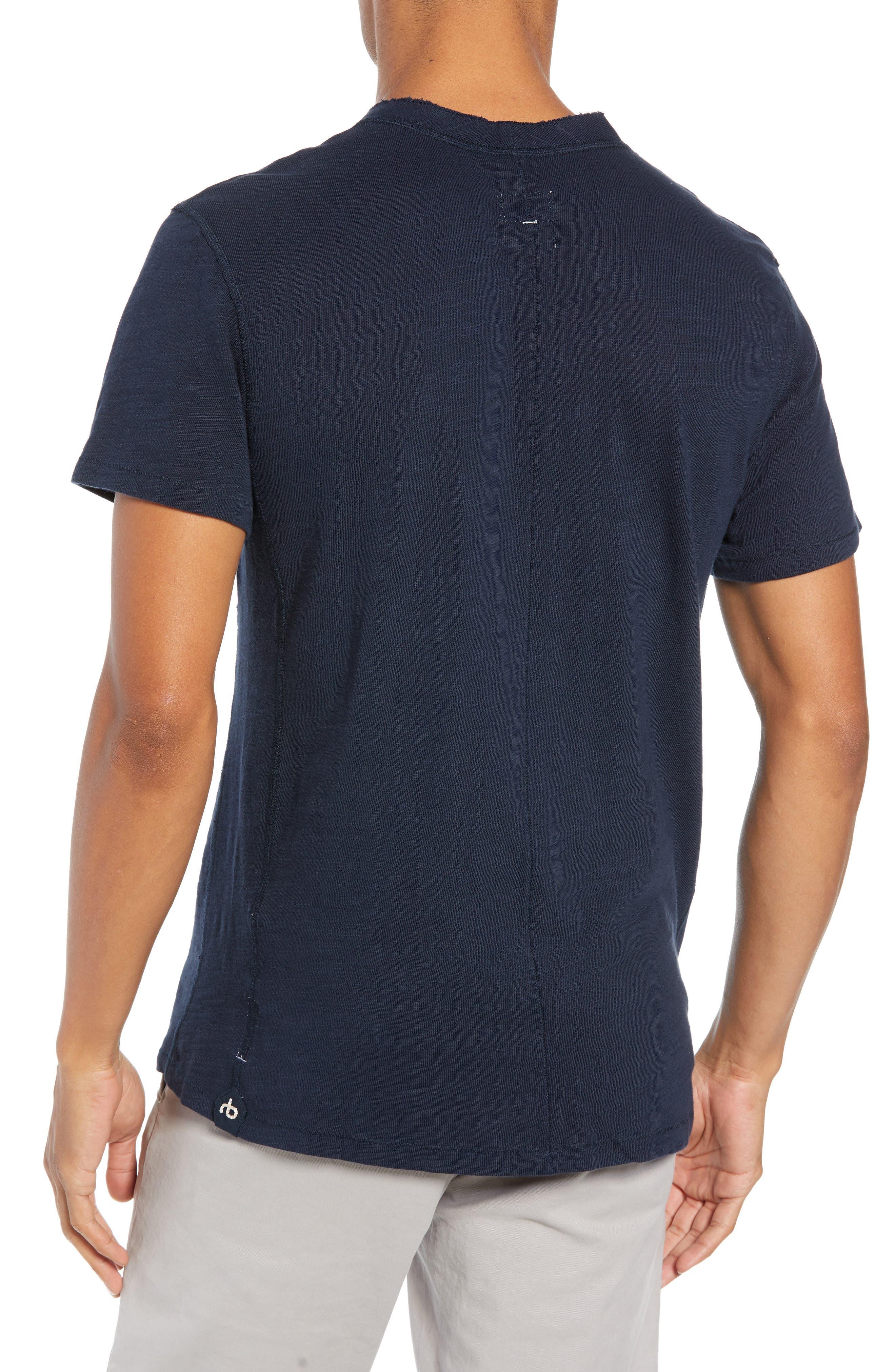 Standard Issue Henley T-Shirt,                             Alternate thumbnail 2, color,                             DEEP NAVY