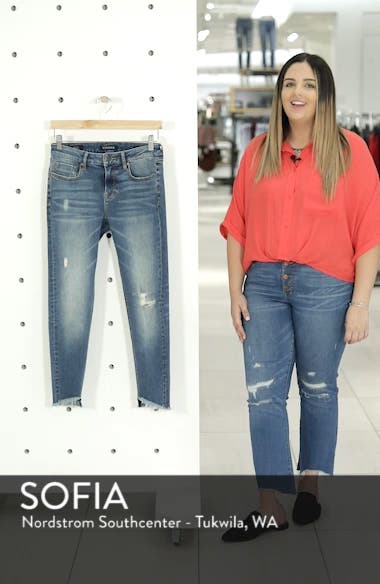 Marley Tulip Hem Ankle Skinny Jeans, sales video thumbnail