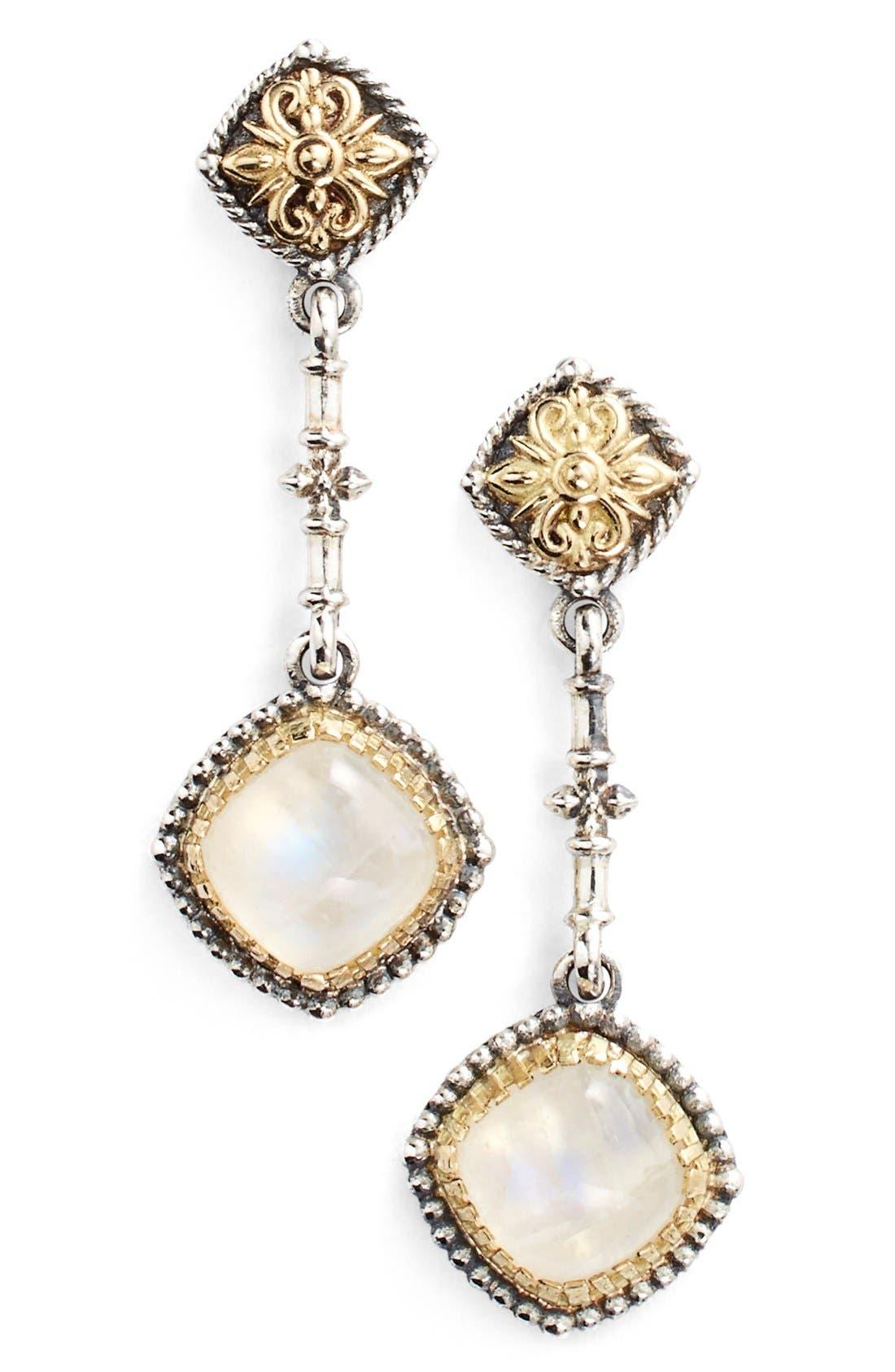 'Erato' Square Stone Drop Earrings,                             Main thumbnail 1, color,