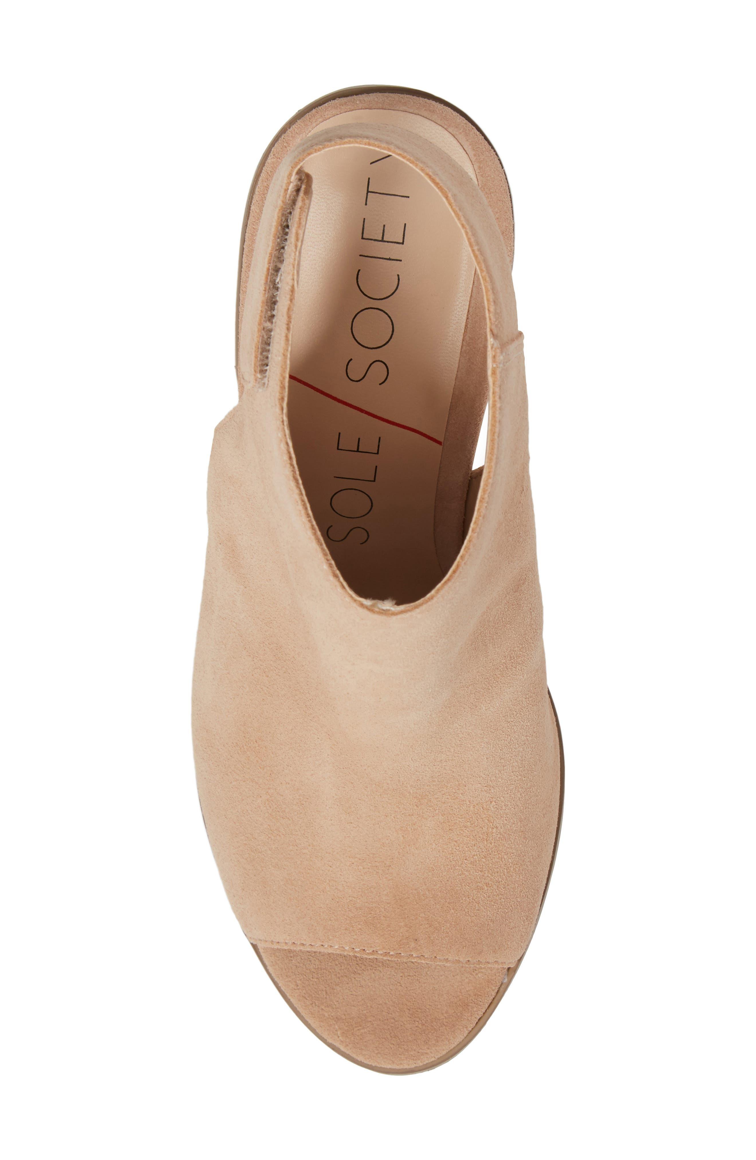 Peep Toe Sandal,                             Alternate thumbnail 5, color,                             209
