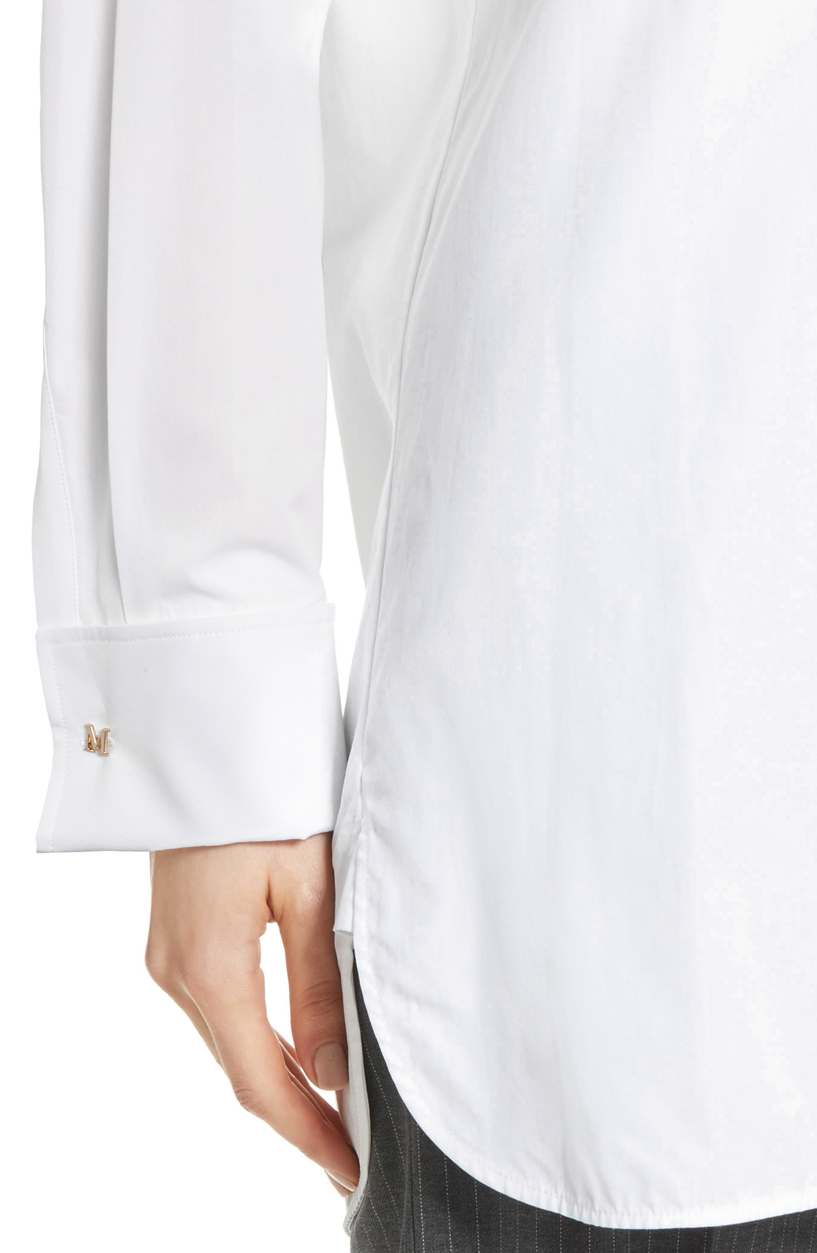 Visivo Cotton Poplin Shirt,                             Alternate thumbnail 4, color,                             101