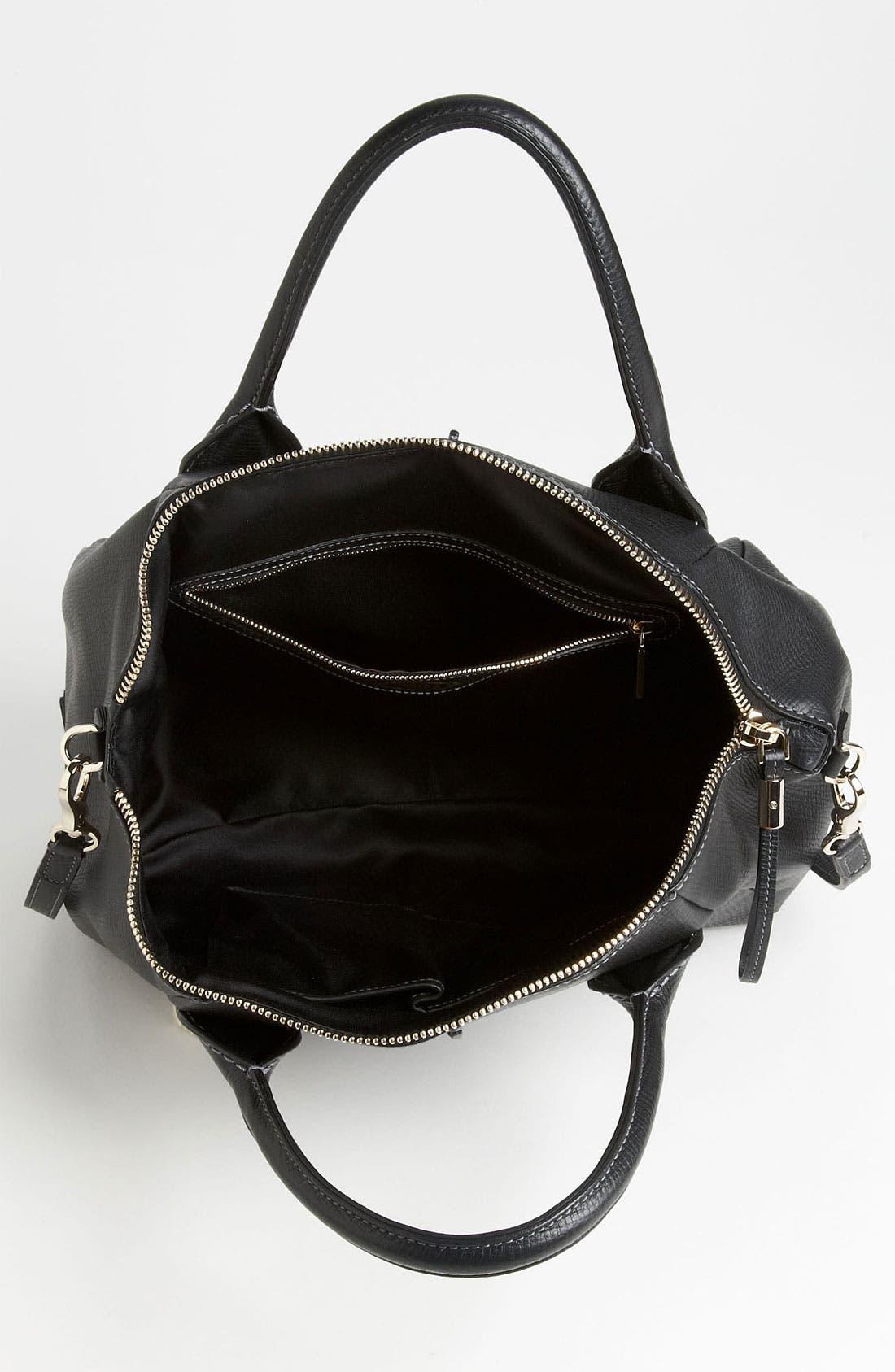 'Medium New D-Styling' Leather Shopper,                             Alternate thumbnail 3, color,                             001