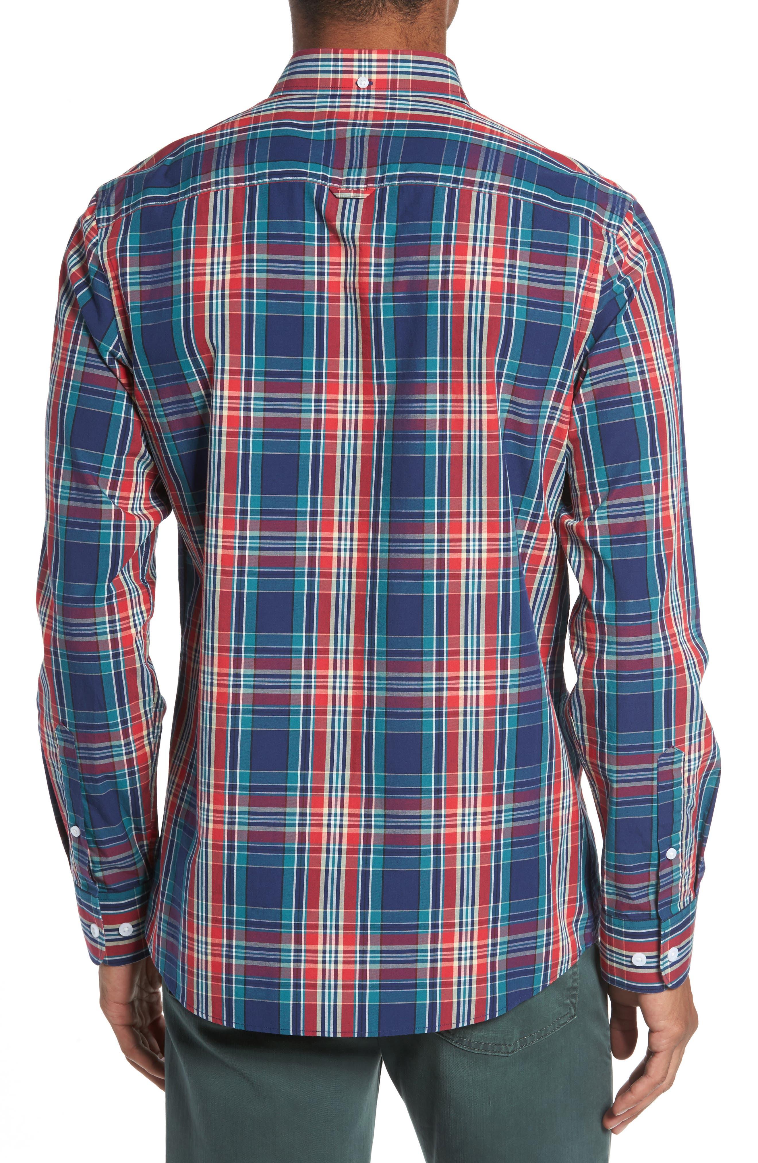 Ivy Trim Fit Plaid Sport Shirt,                             Alternate thumbnail 2, color,                             610