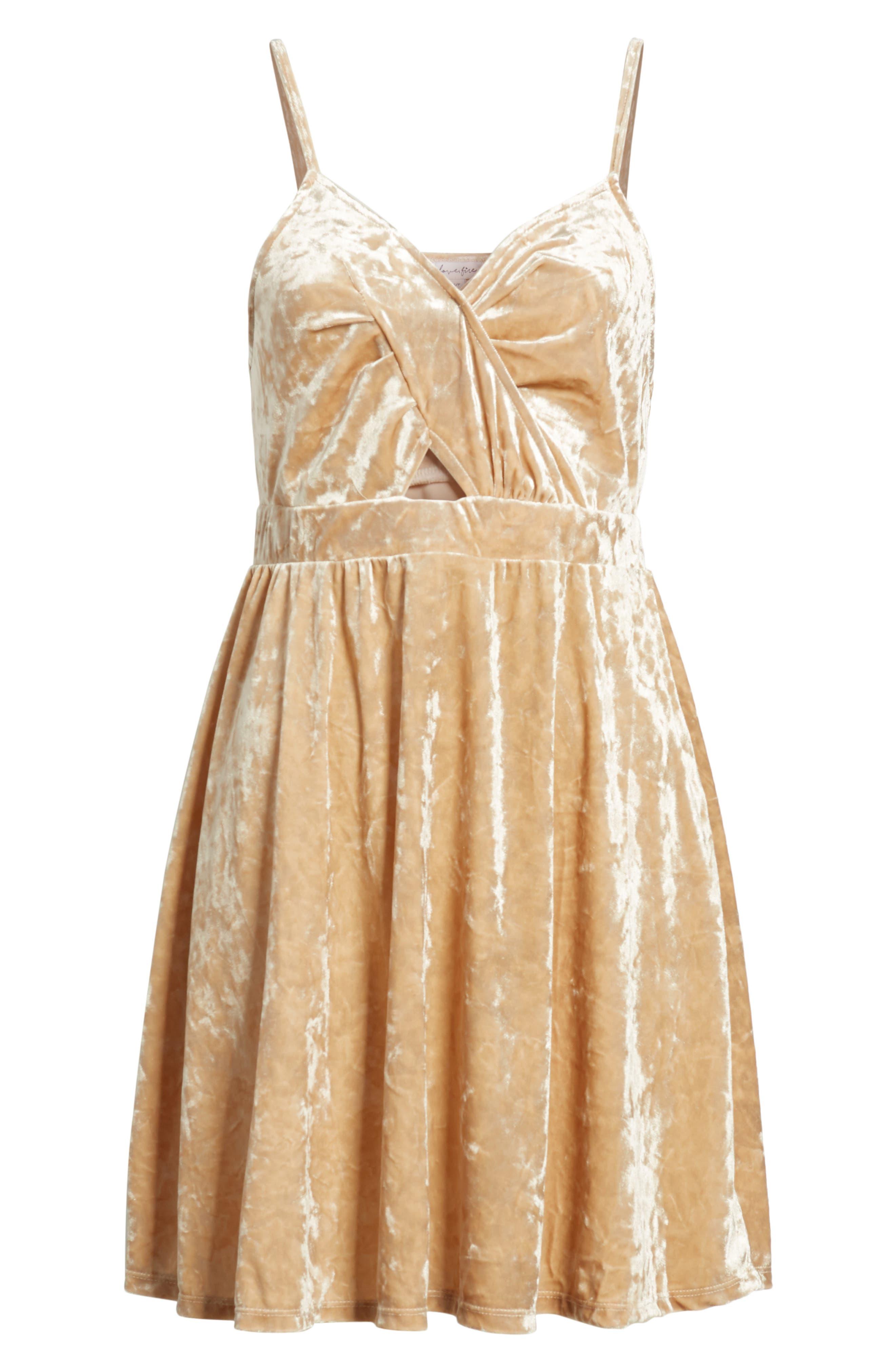 Cutout Velvet Skater Dress,                             Alternate thumbnail 7, color,                             BLUSH