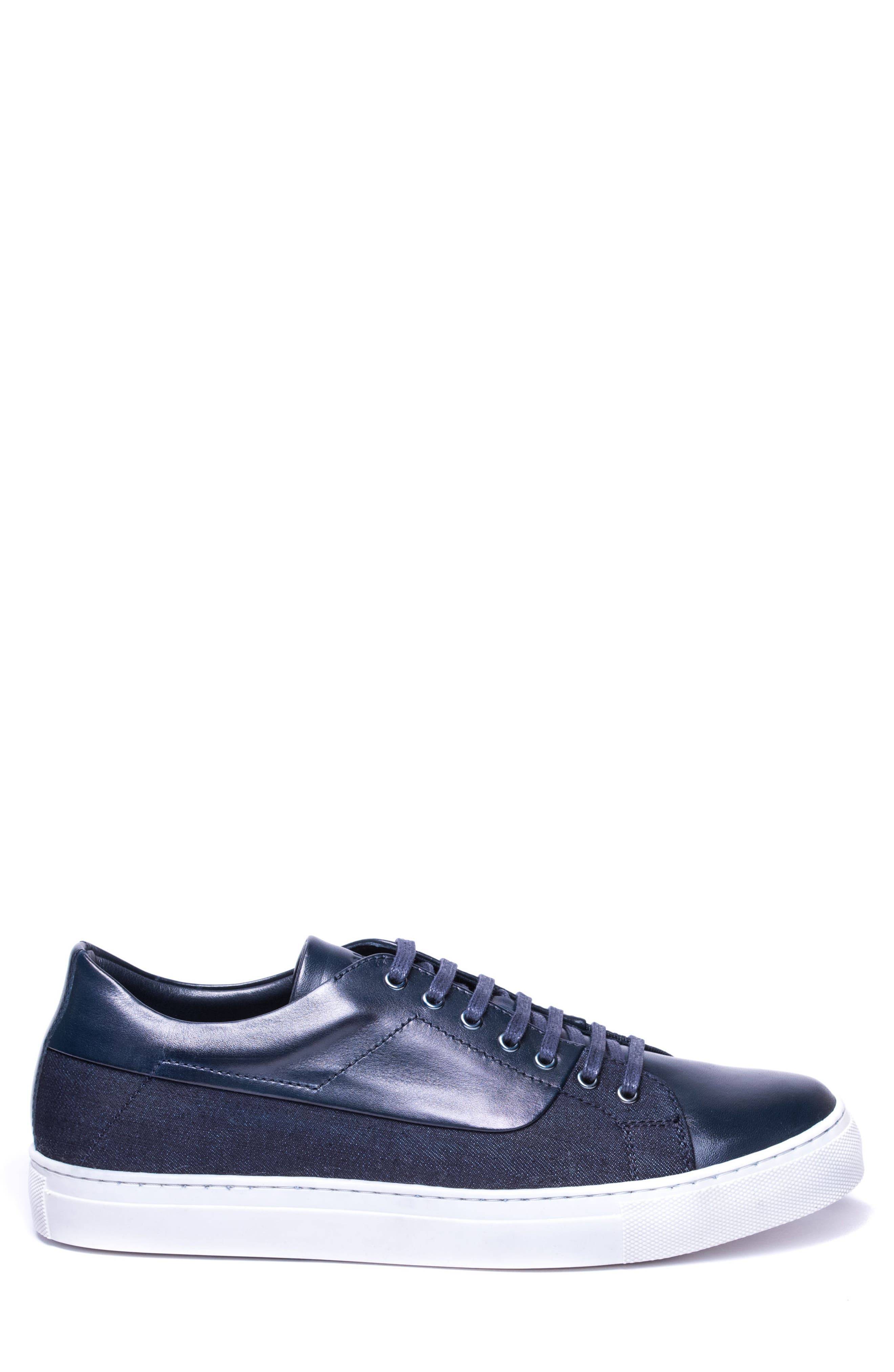 Luke Low Top Sneaker,                             Alternate thumbnail 3, color,                             NAVY LEATHER