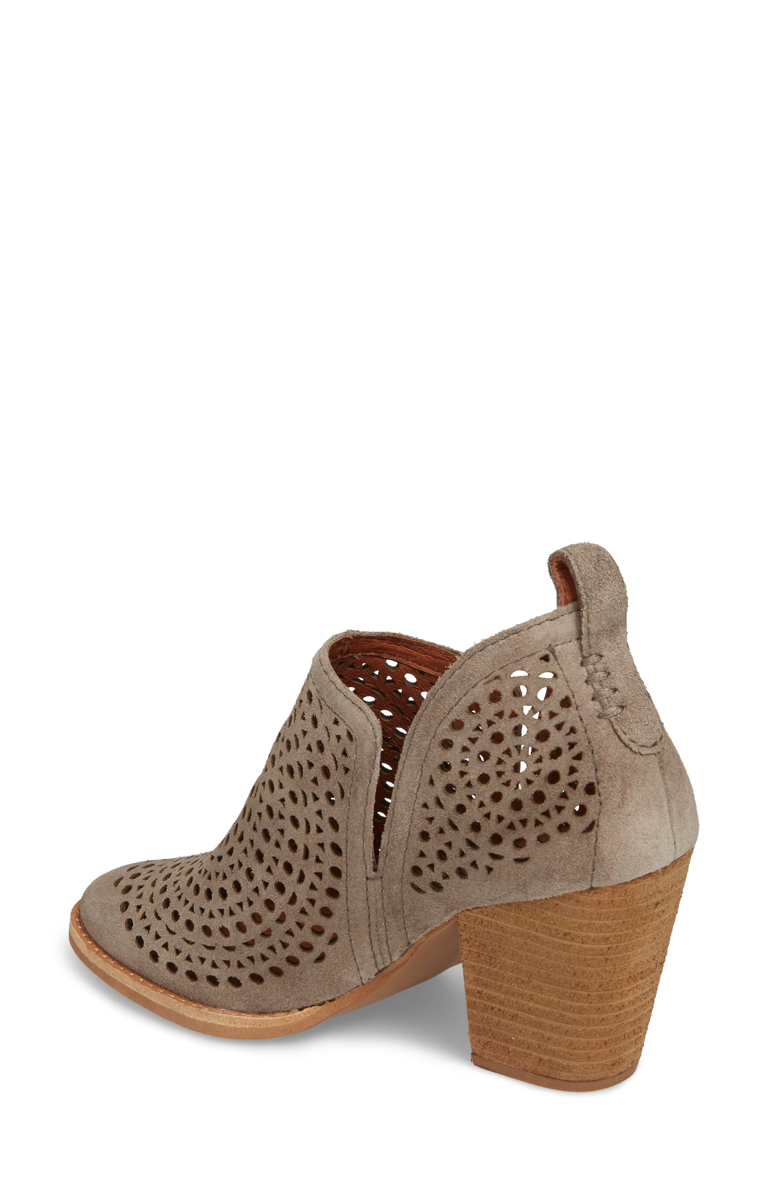 Rosalee Bootie,                             Alternate thumbnail 2, color,                             TAUPE SUEDE