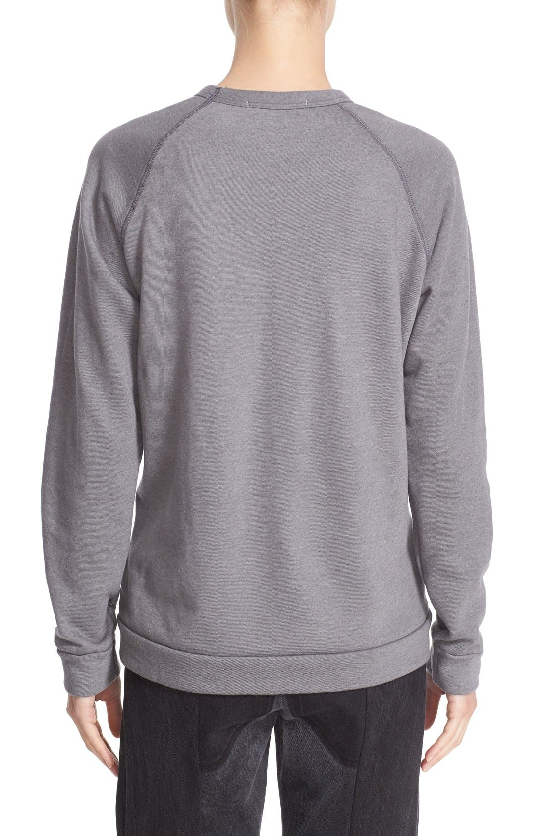 'Radarte' Foil Sweatshirt,                             Alternate thumbnail 6, color,                             022