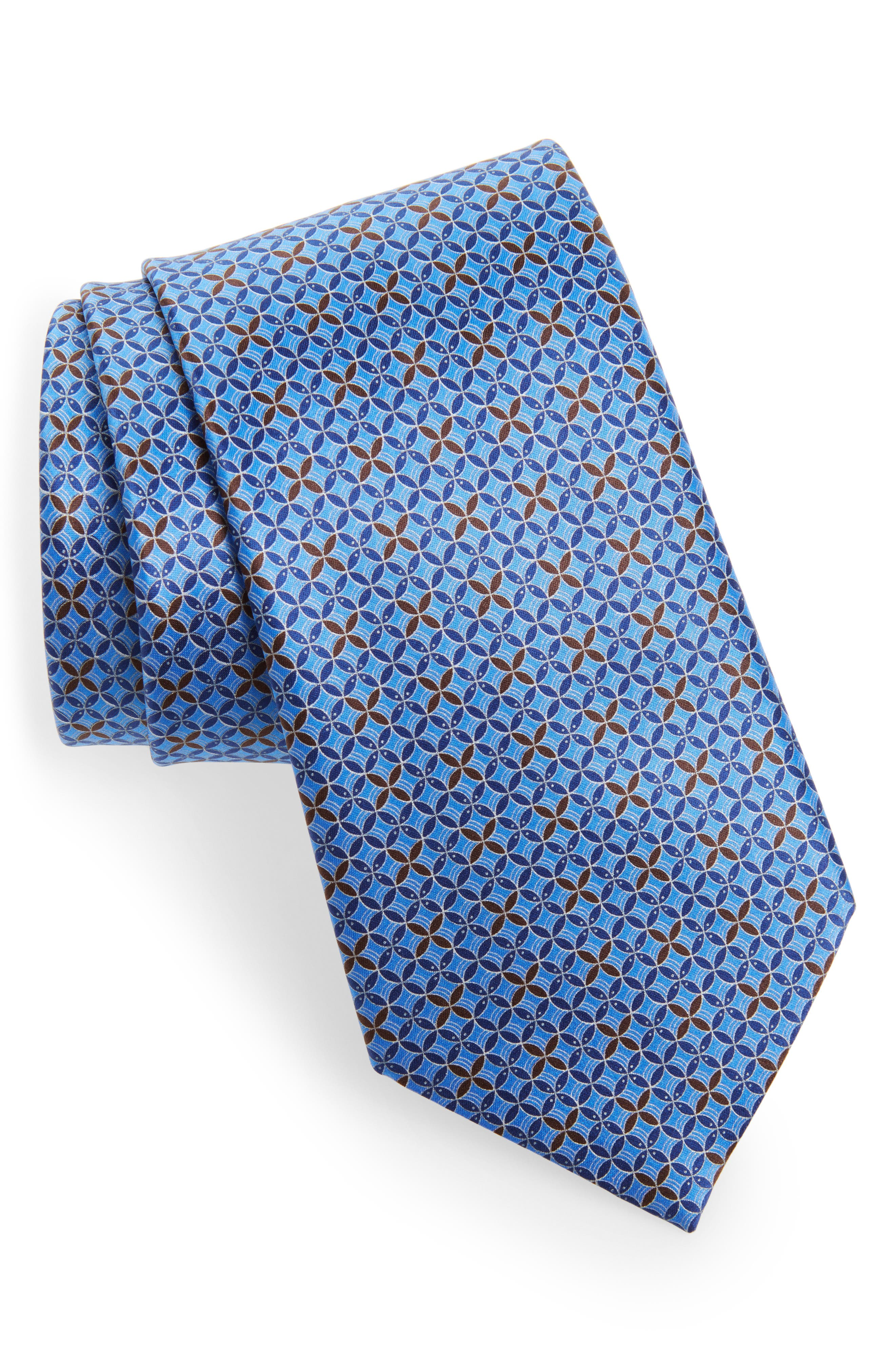 Geometric Silk Tie,                         Main,                         color,
