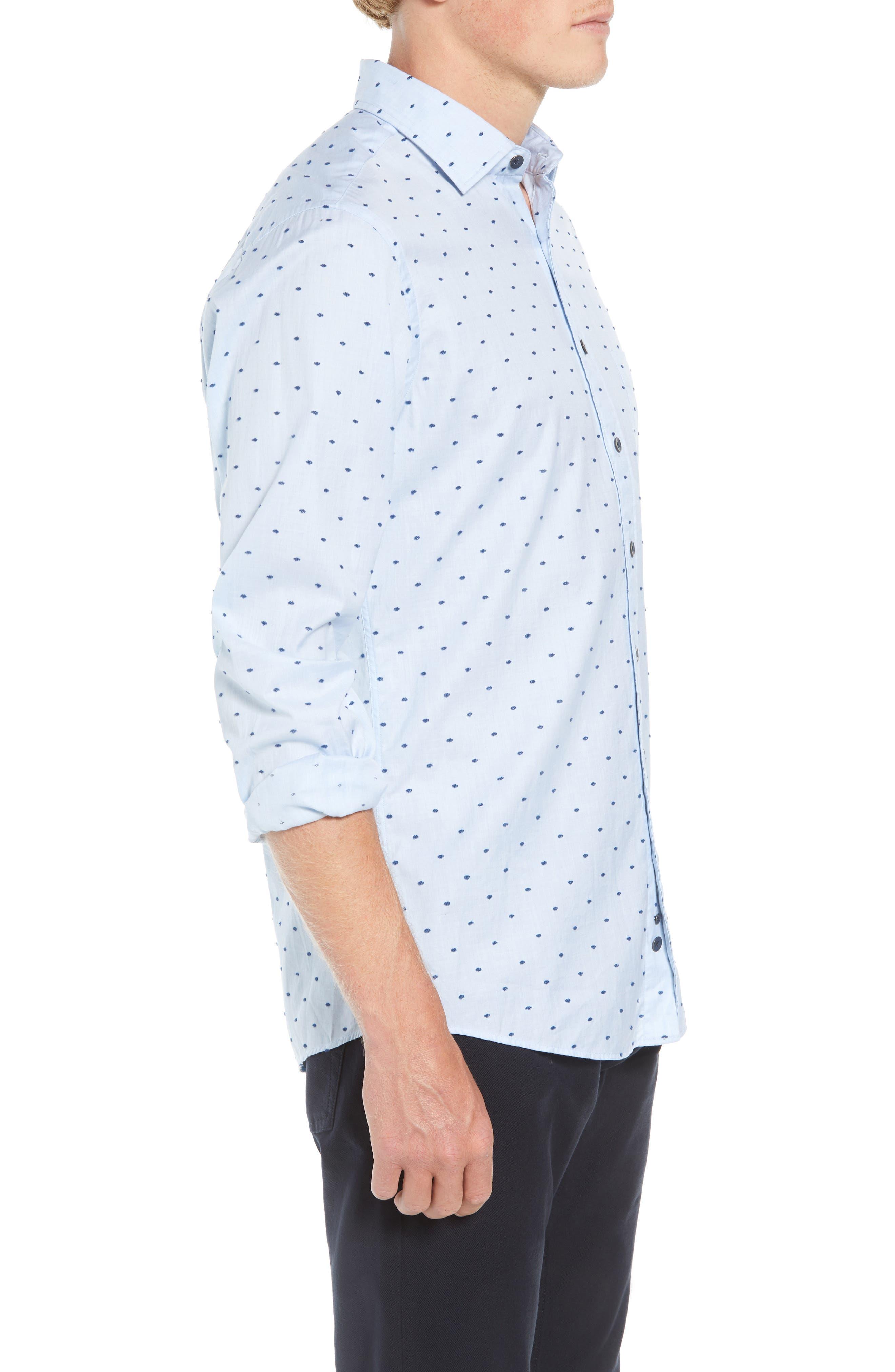 Fraser Road Regular Fit Dot Sport Shirt,                             Alternate thumbnail 4, color,                             459