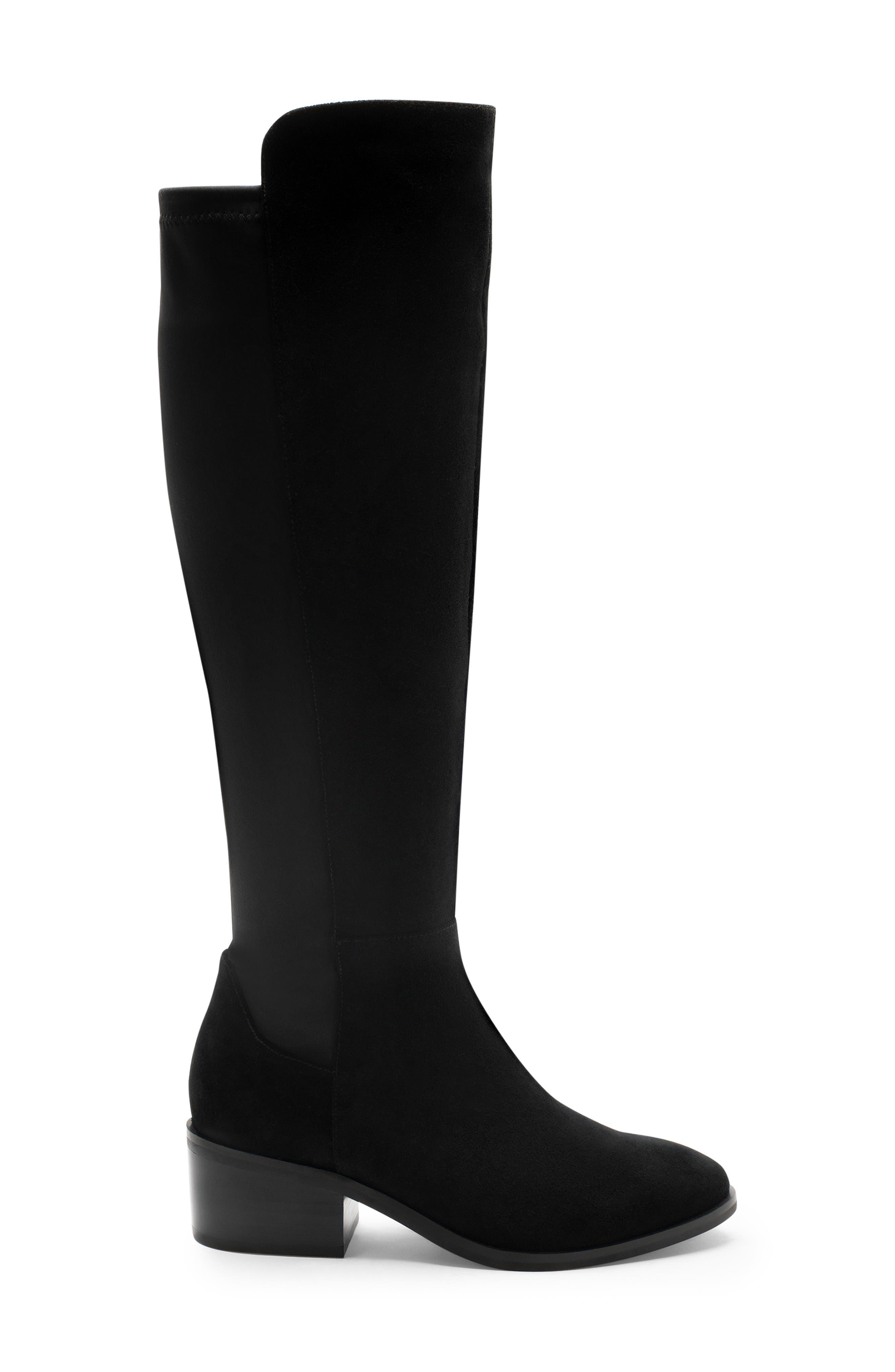 Gallo Knee-High Waterproof Boot,                             Alternate thumbnail 3, color,                             BLACK SUEDE