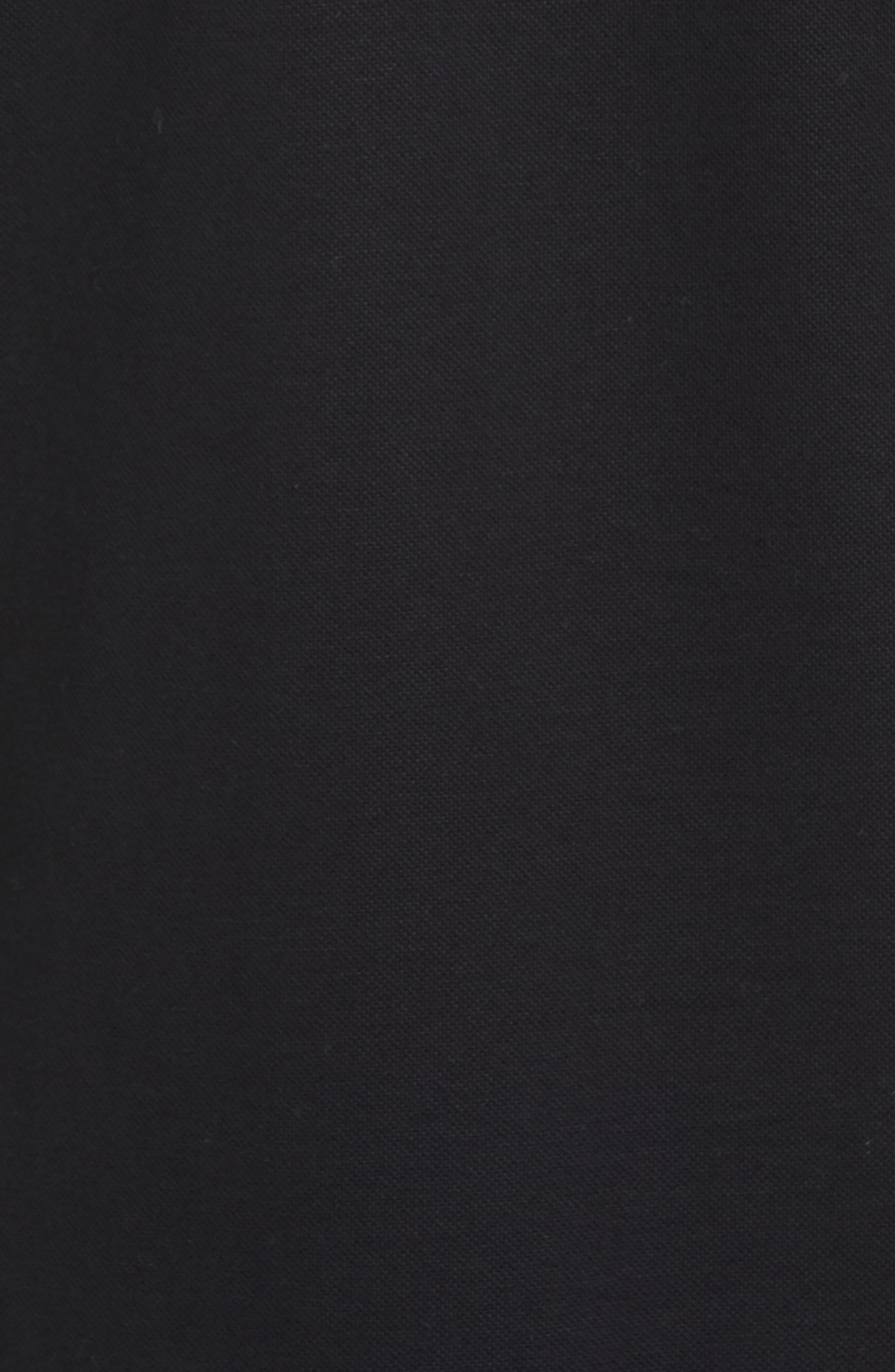 Pleins Slim Fit Long Sleeve Polo,                             Alternate thumbnail 5, color,                             001