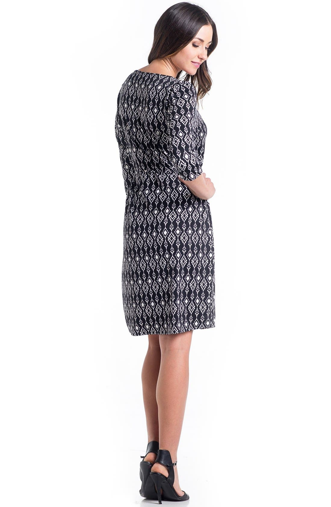 Print Maternity Dress,                             Alternate thumbnail 6, color,
