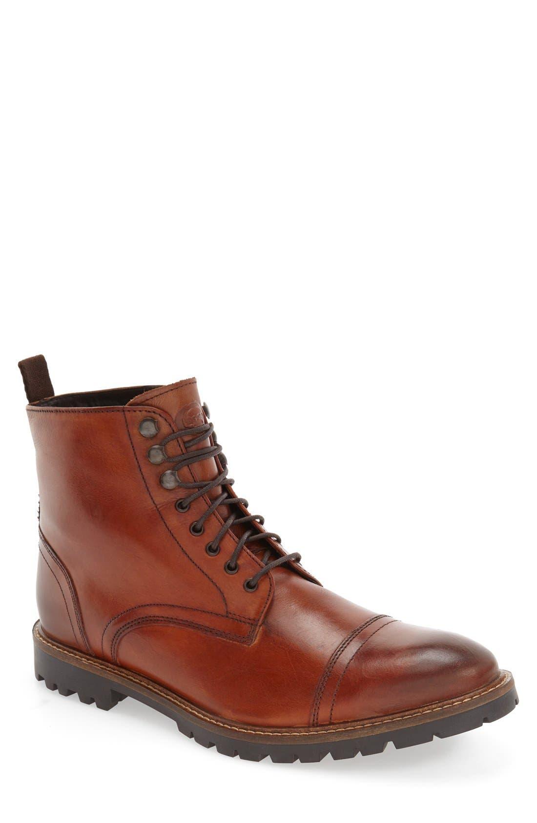 'Siege' Cap Toe Boot, Main, color, 210
