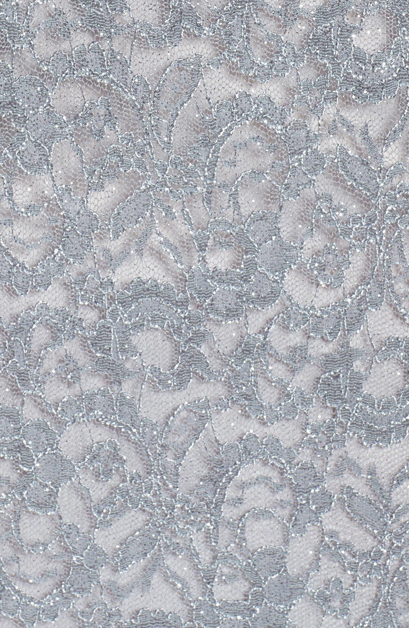 Cold Shoulder Lace Gown,                             Alternate thumbnail 9, color,