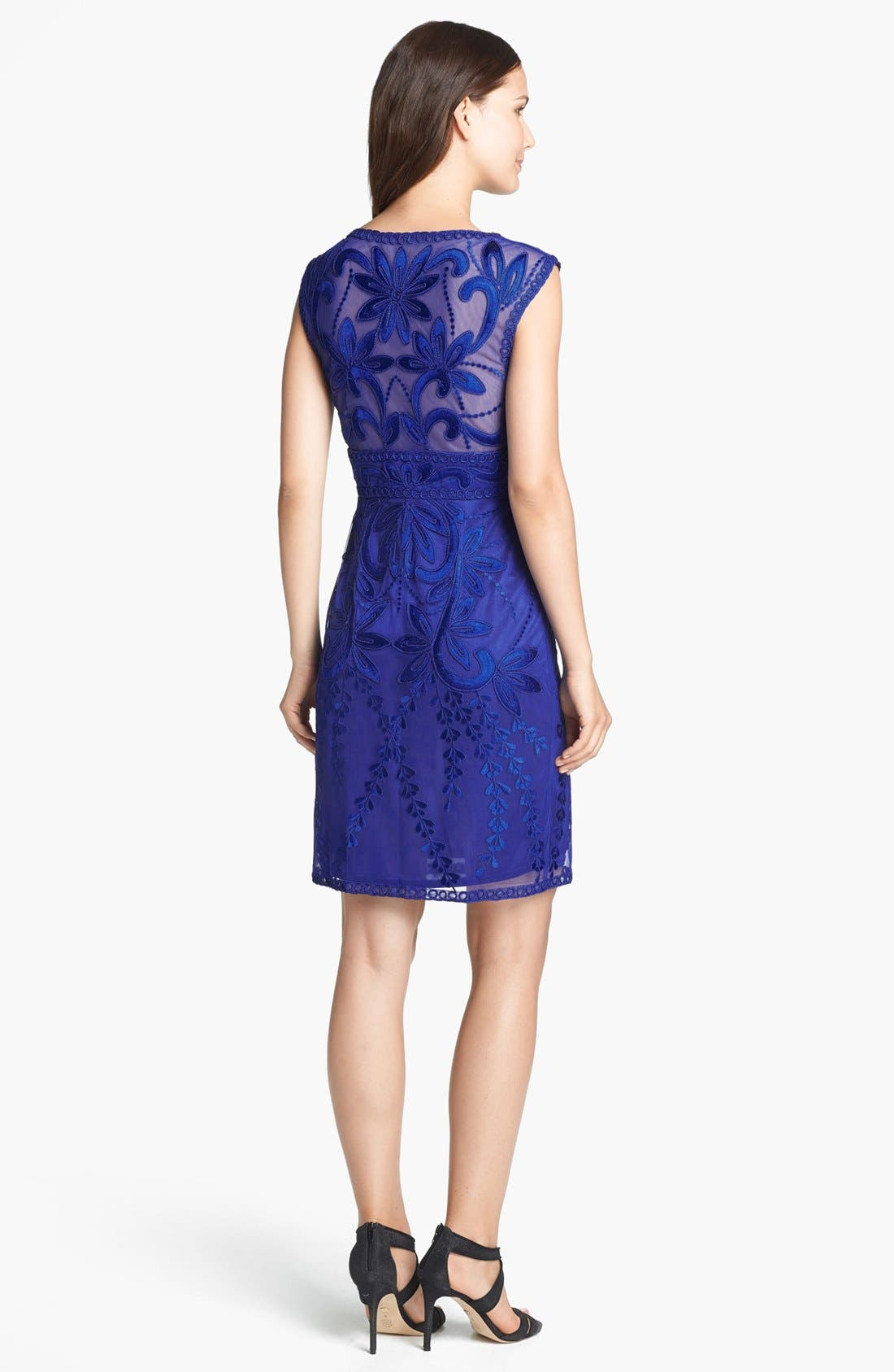 SUE WONG,                             Embroidered Sheath Dress,                             Alternate thumbnail 5, color,                             404
