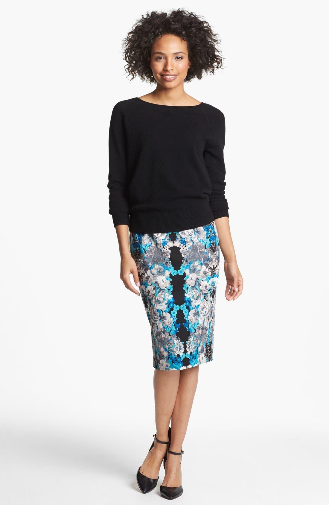 Print Pencil Skirt,                             Alternate thumbnail 31, color,