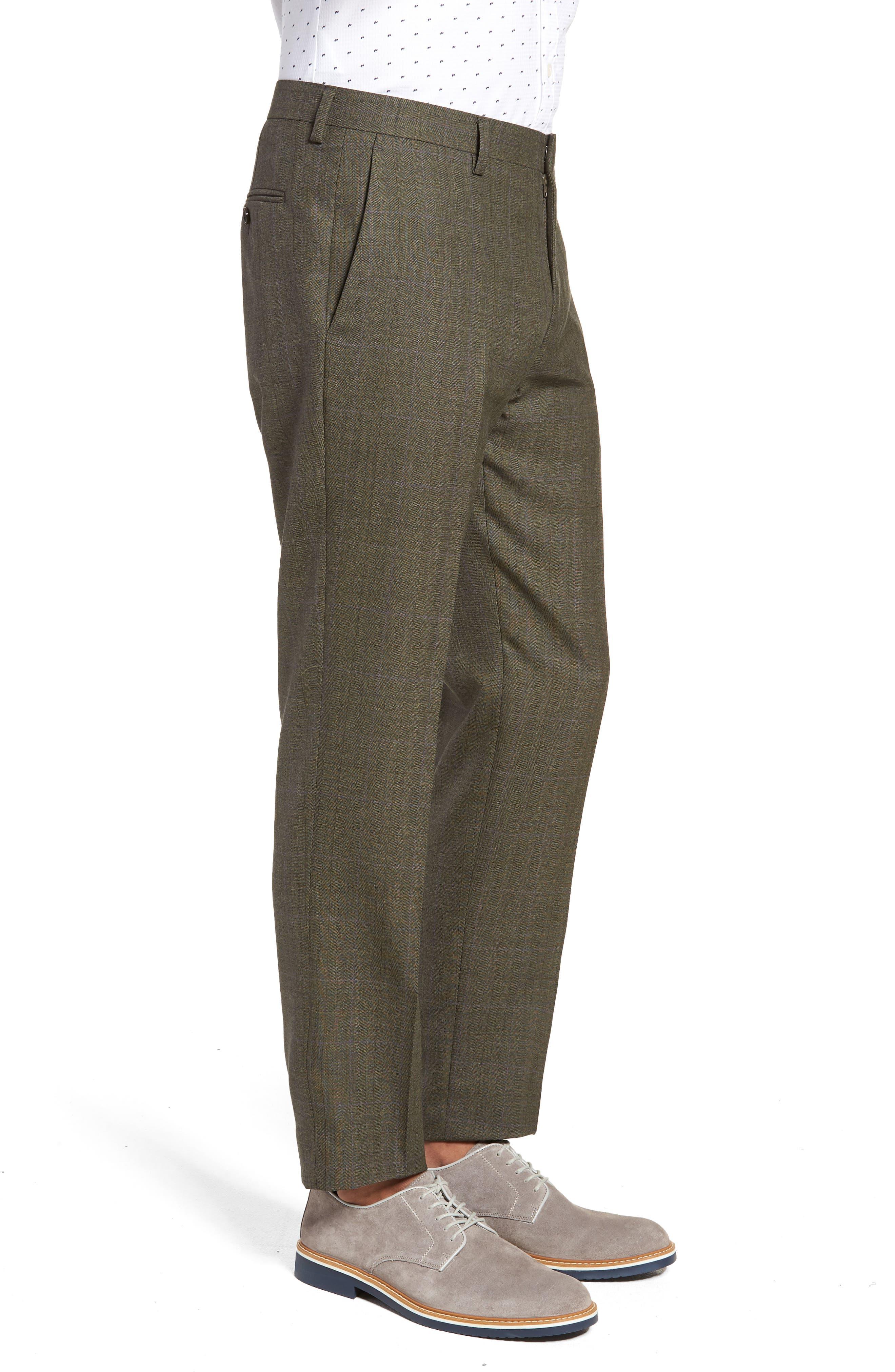 Ludlow Trim Fit Herringbone Wool Pants,                             Alternate thumbnail 3, color,                             300