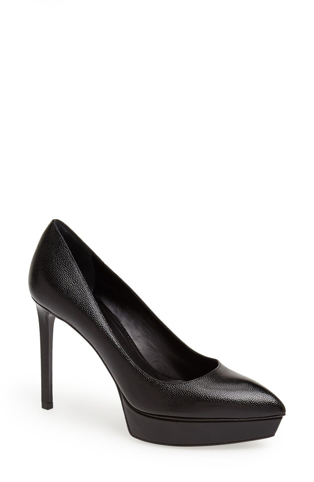 'Janis' Pointy Toe Platform Pump,                         Main,                         color, 001
