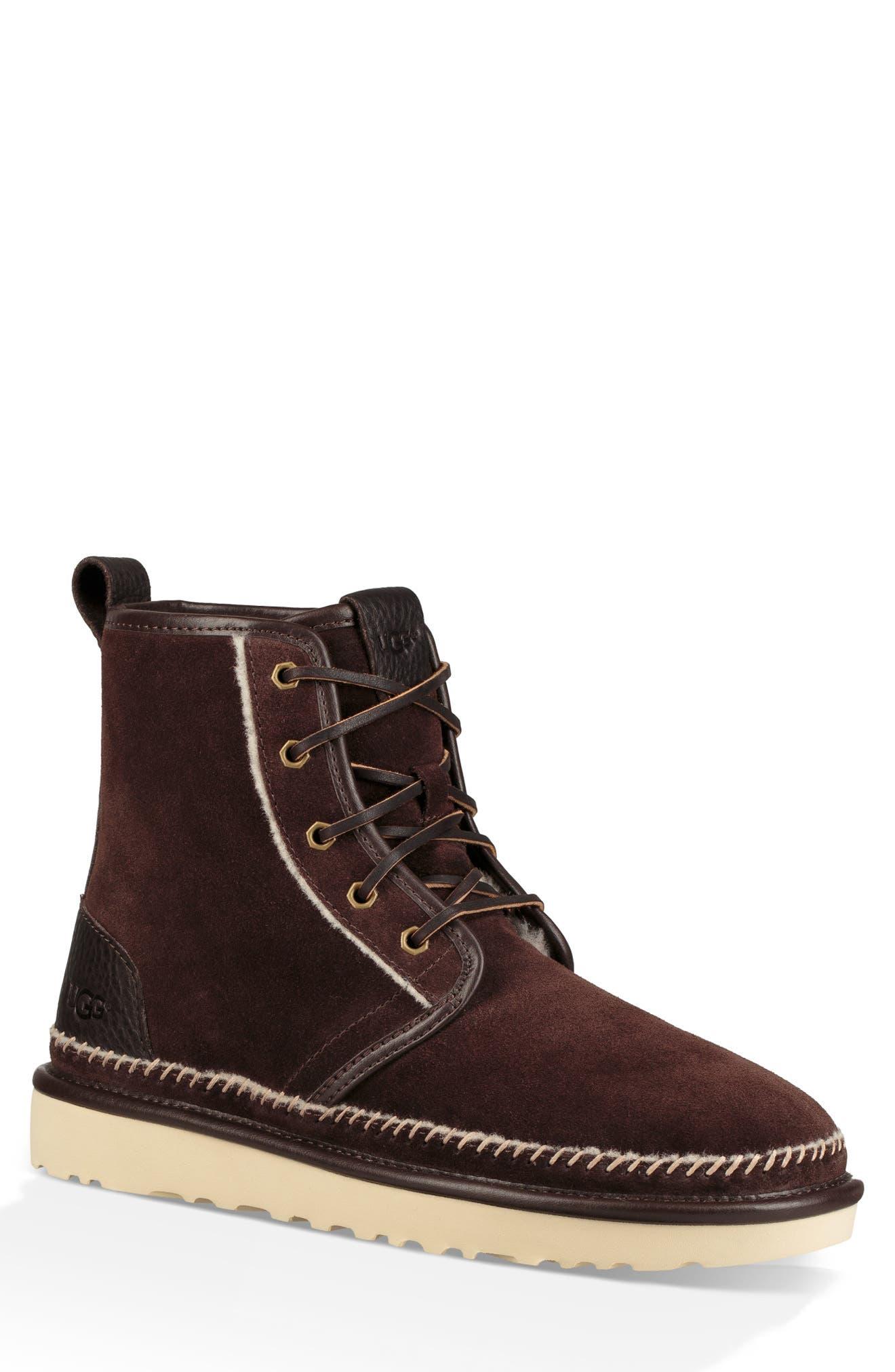Ugg Harkley Stitch Plain Toe Boot, Brown