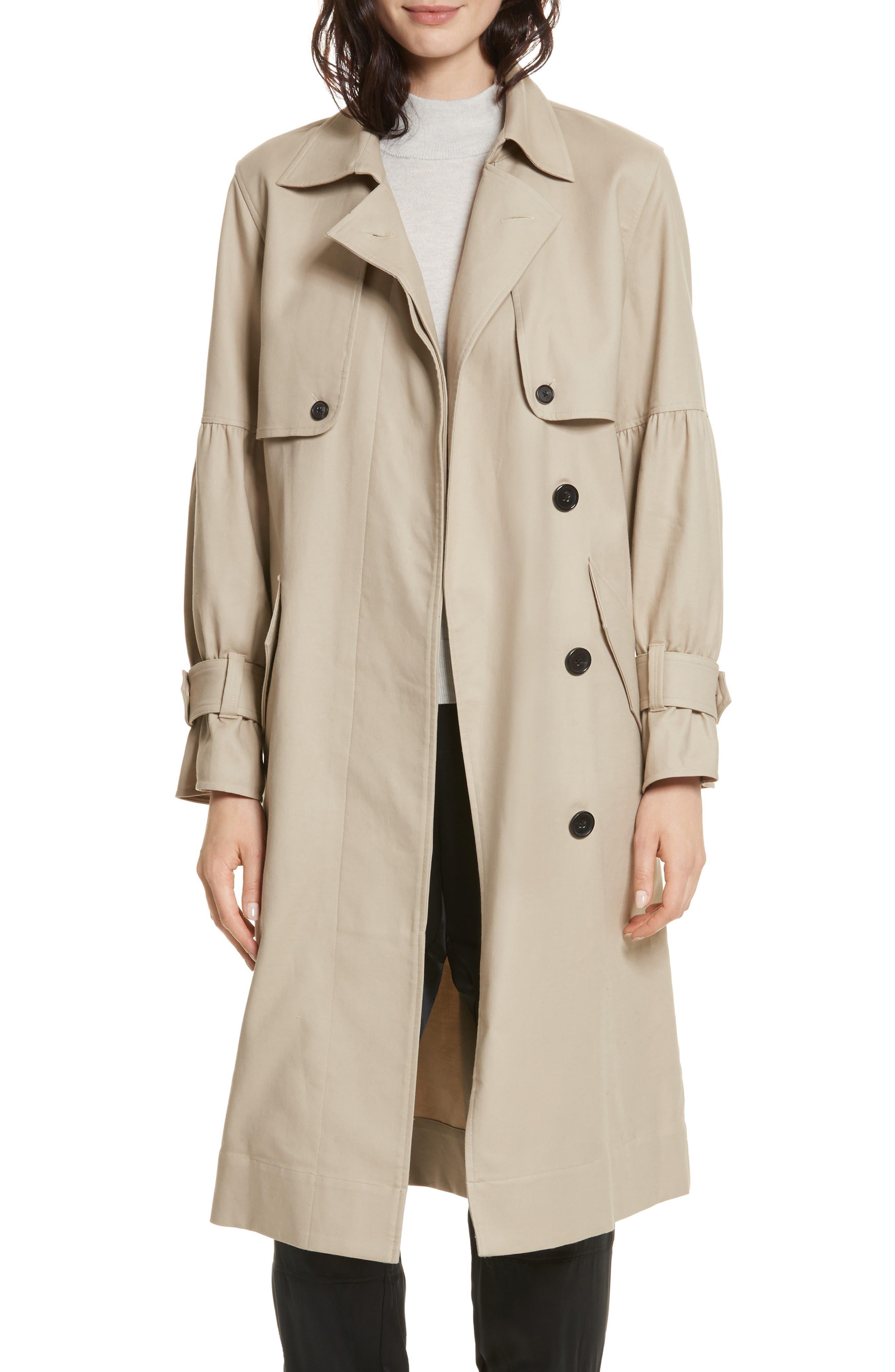 Alwena Cotton Trench Coat,                         Main,                         color, 250