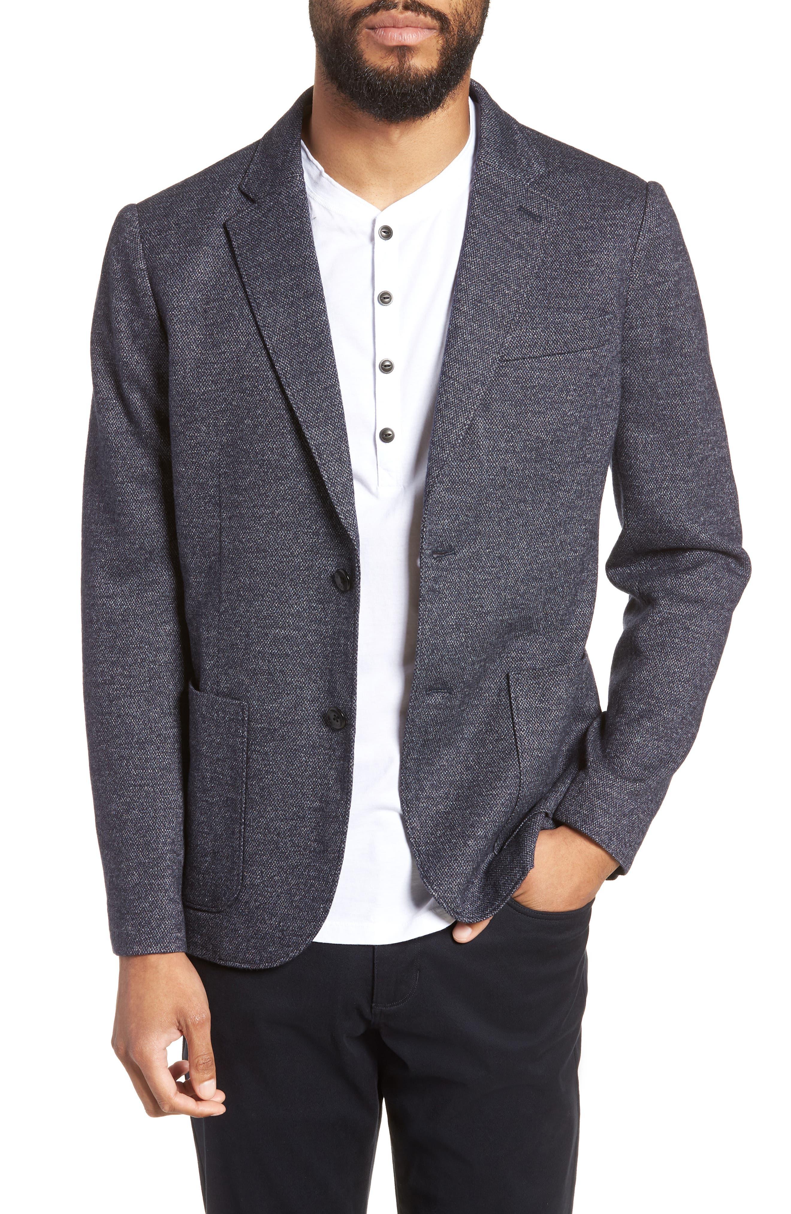 Slim Fit Soft Blazer,                         Main,                         color, NAVY