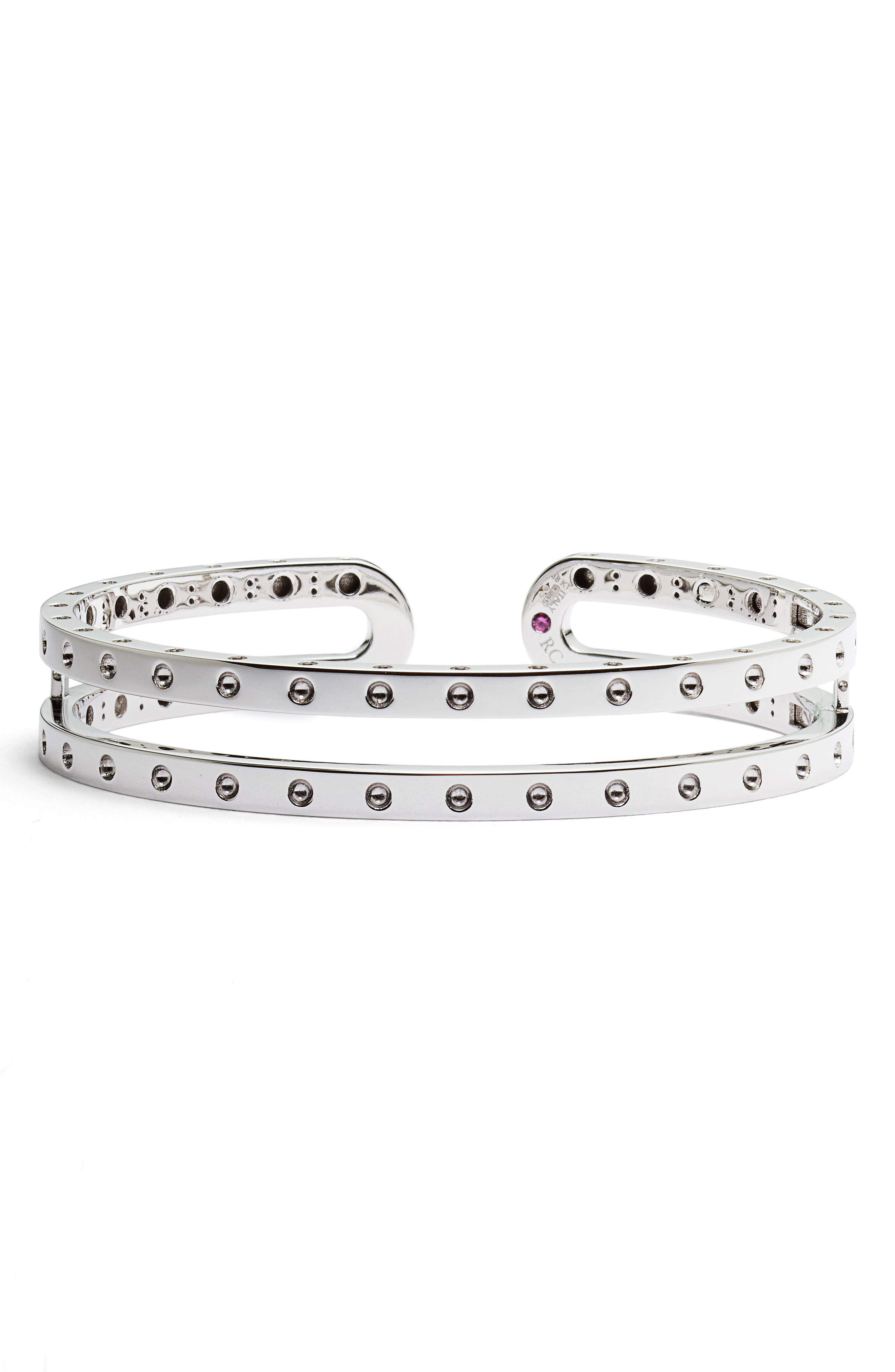Double Symphony Pois Moi Bangle,                         Main,                         color, 18KWG