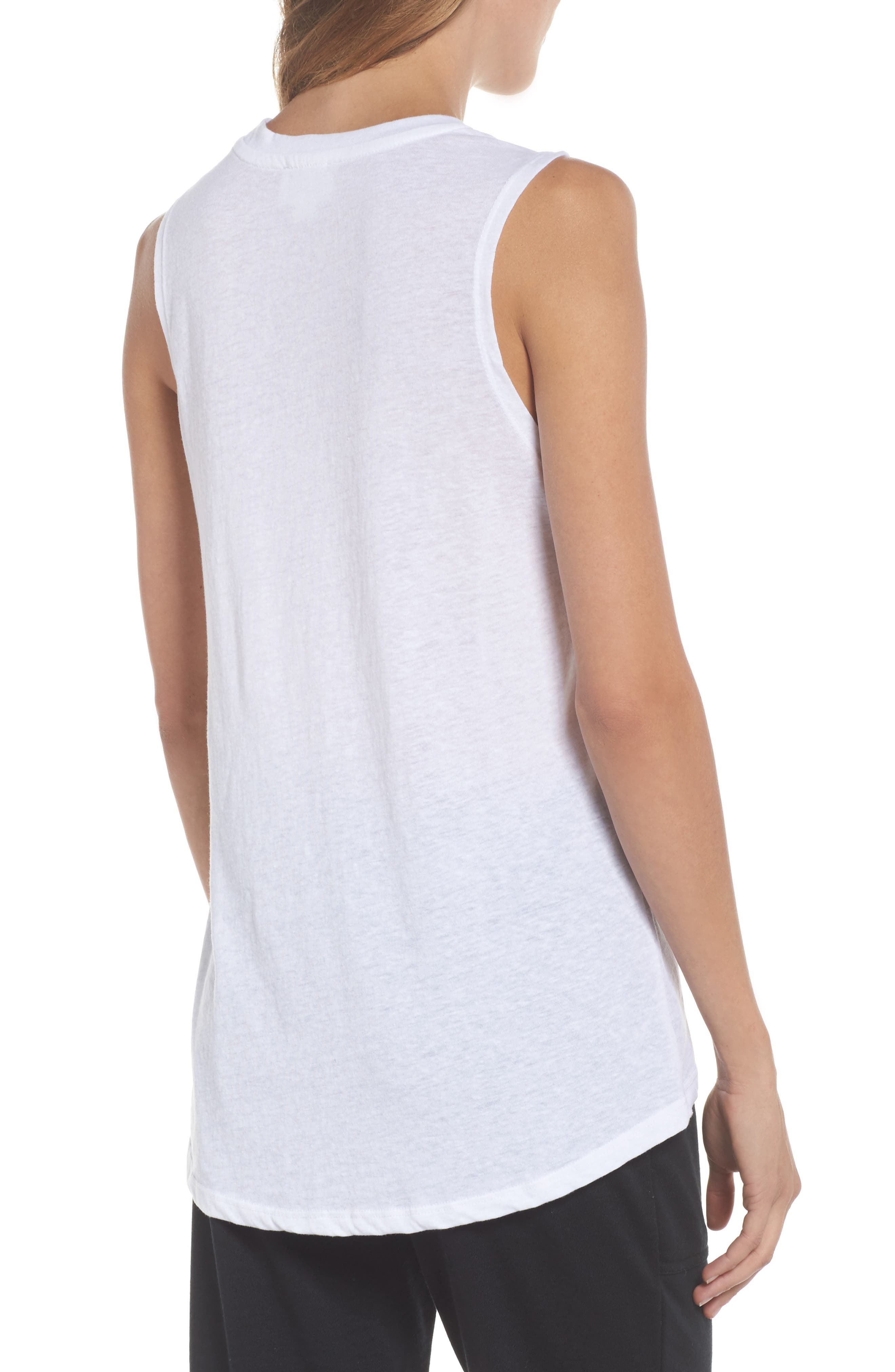 High/Low Muscle Tank,                             Alternate thumbnail 2, color,                             109