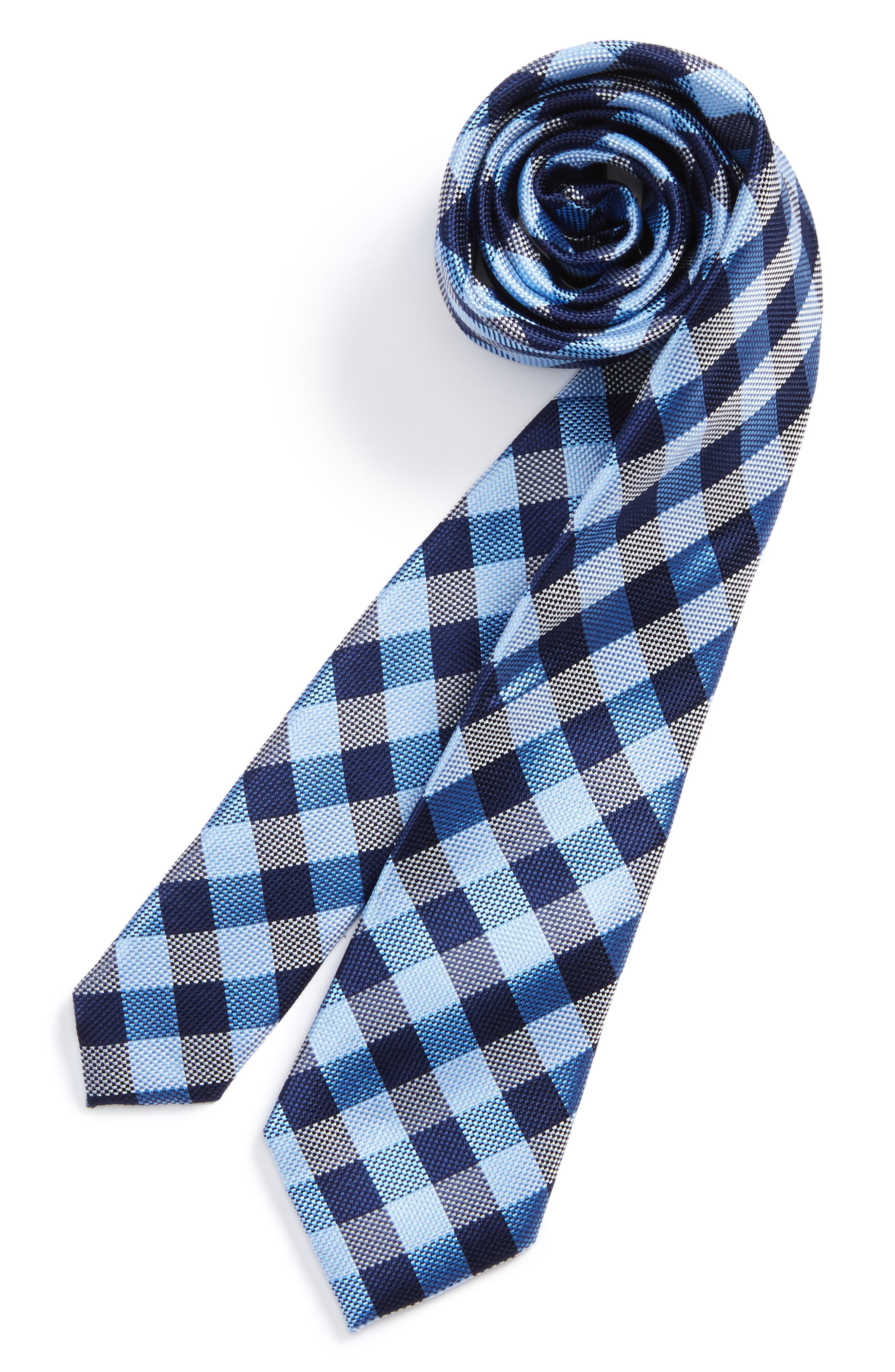 Check Silk Tie,                             Main thumbnail 4, color,