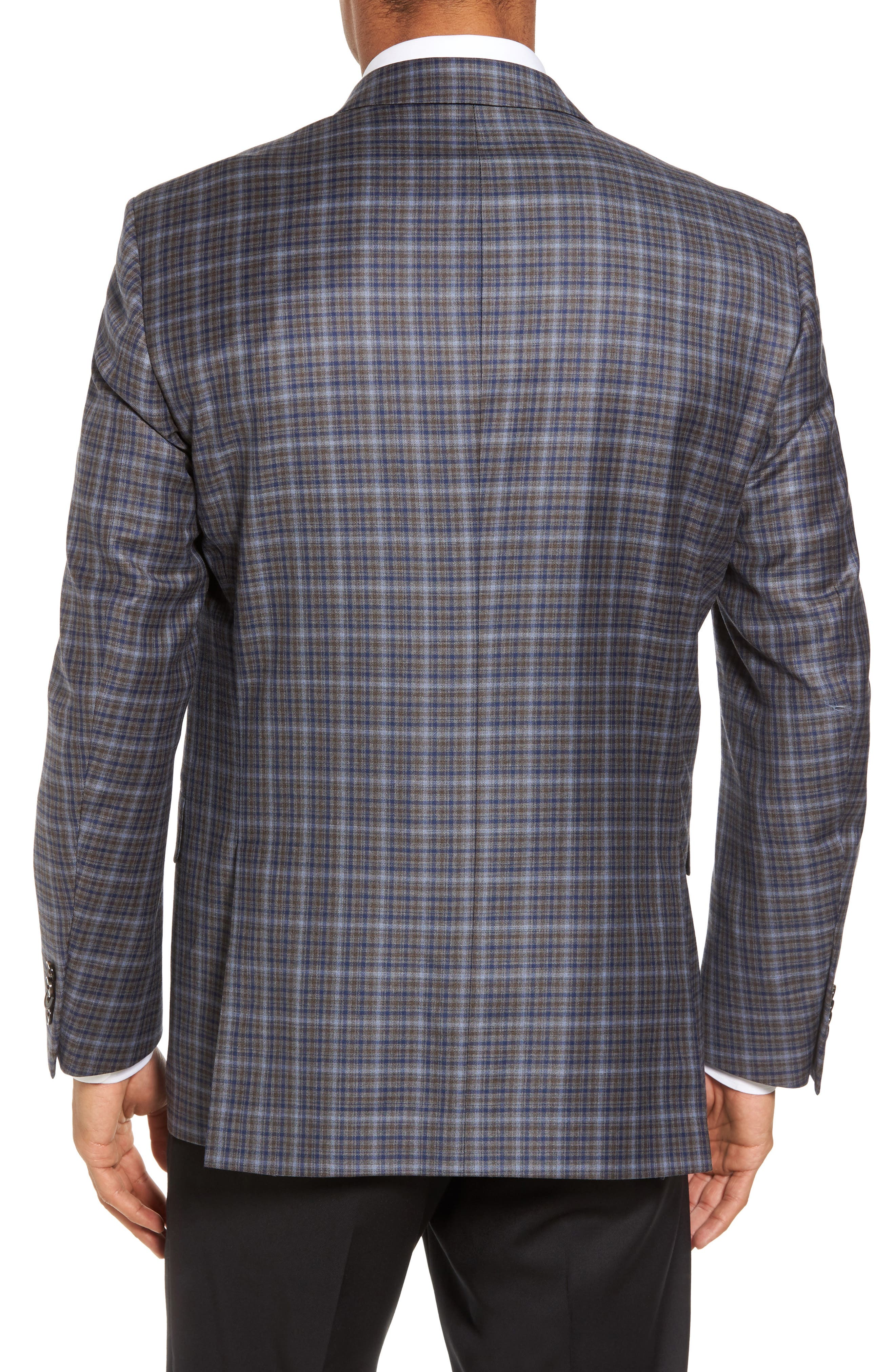 Classic Fit Check Wool Sport Coat,                             Alternate thumbnail 2, color,                             210