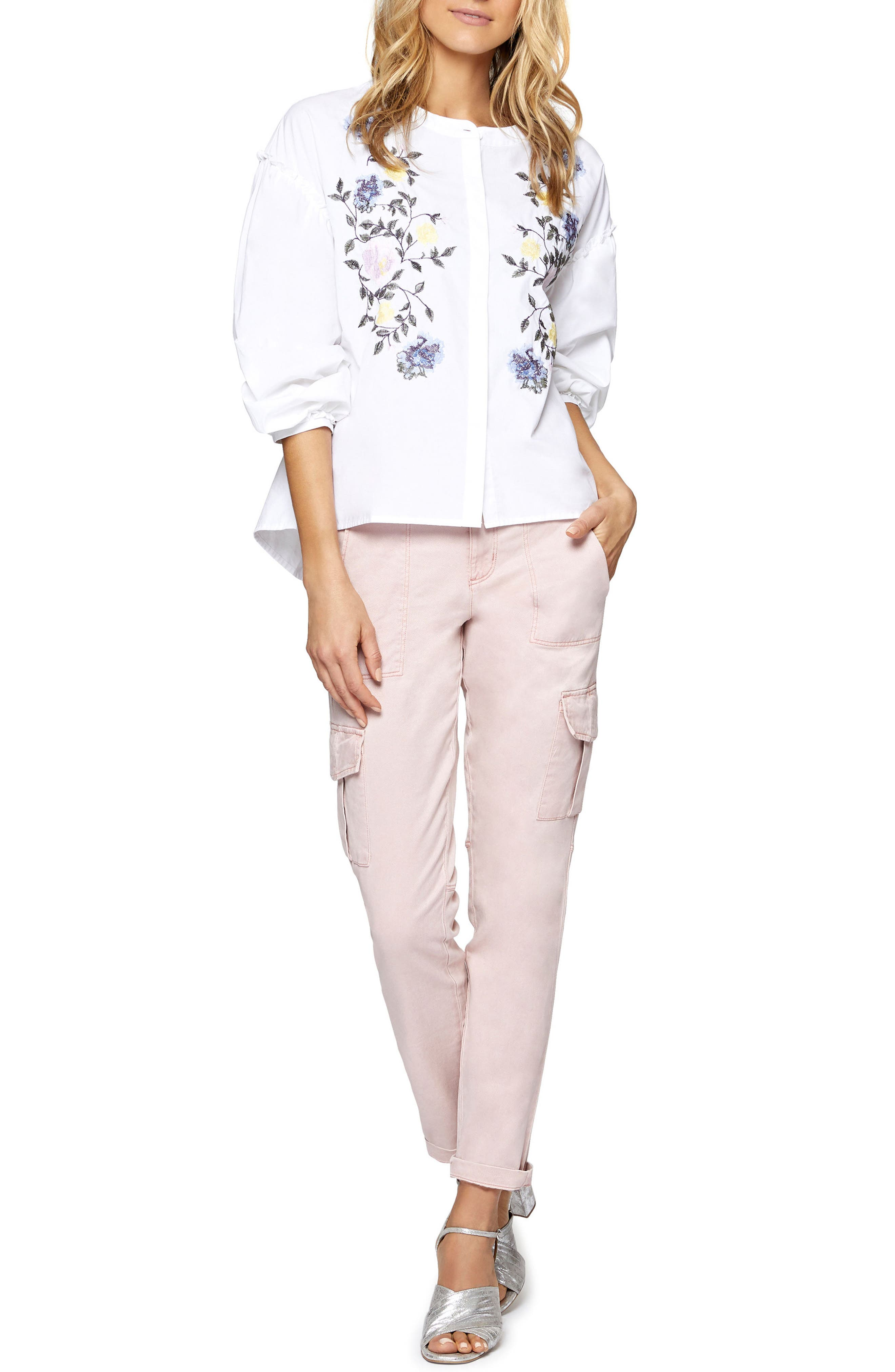 Embroidered Spring Danni Top,                             Alternate thumbnail 3, color,                             114