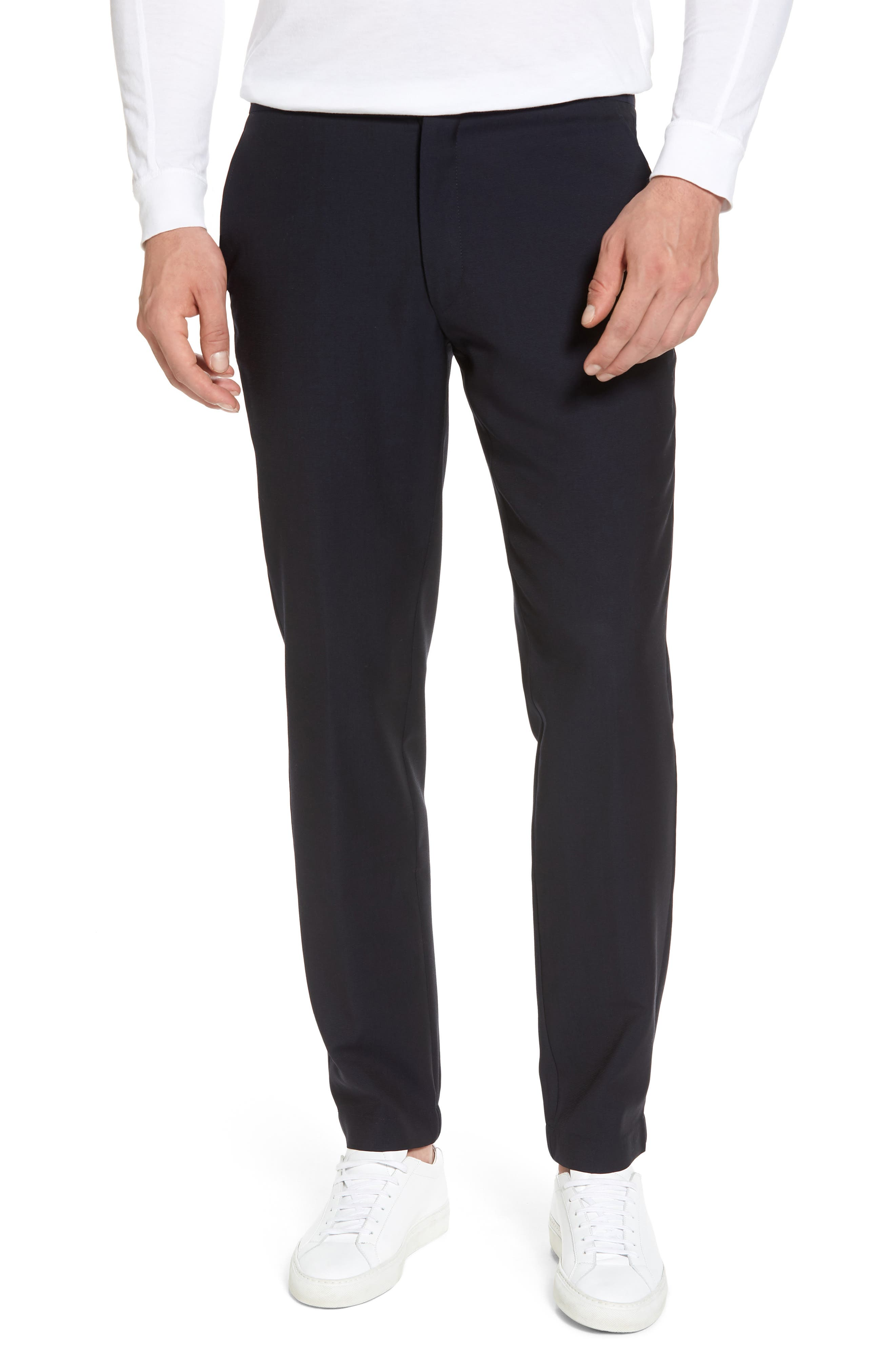 Hybrid Jogger Flat Front Wool Trousers,                             Main thumbnail 1, color,