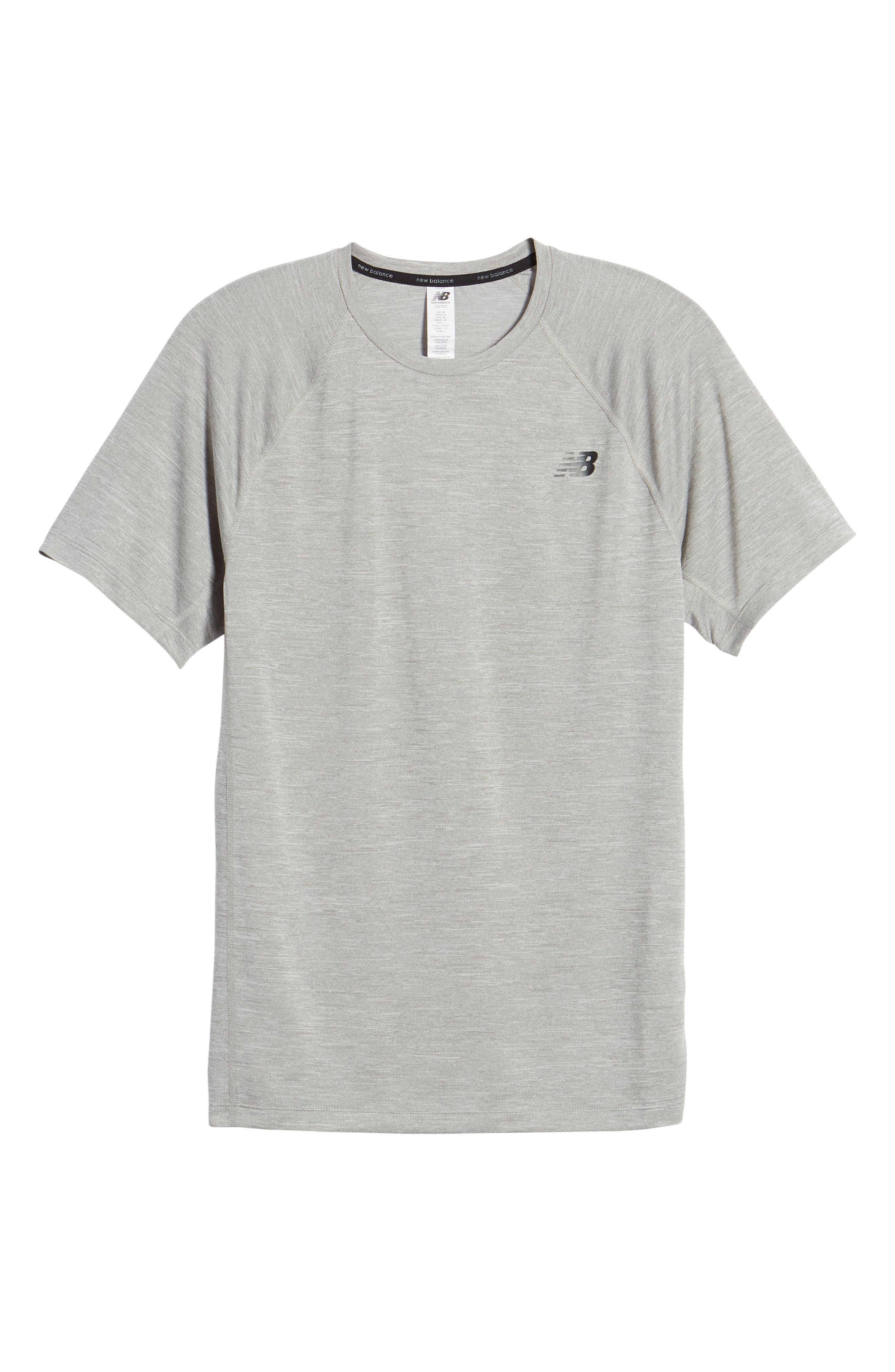 Tenacity Crewneck T-Shirt,                             Alternate thumbnail 6, color,                             ATHLETIC GREY
