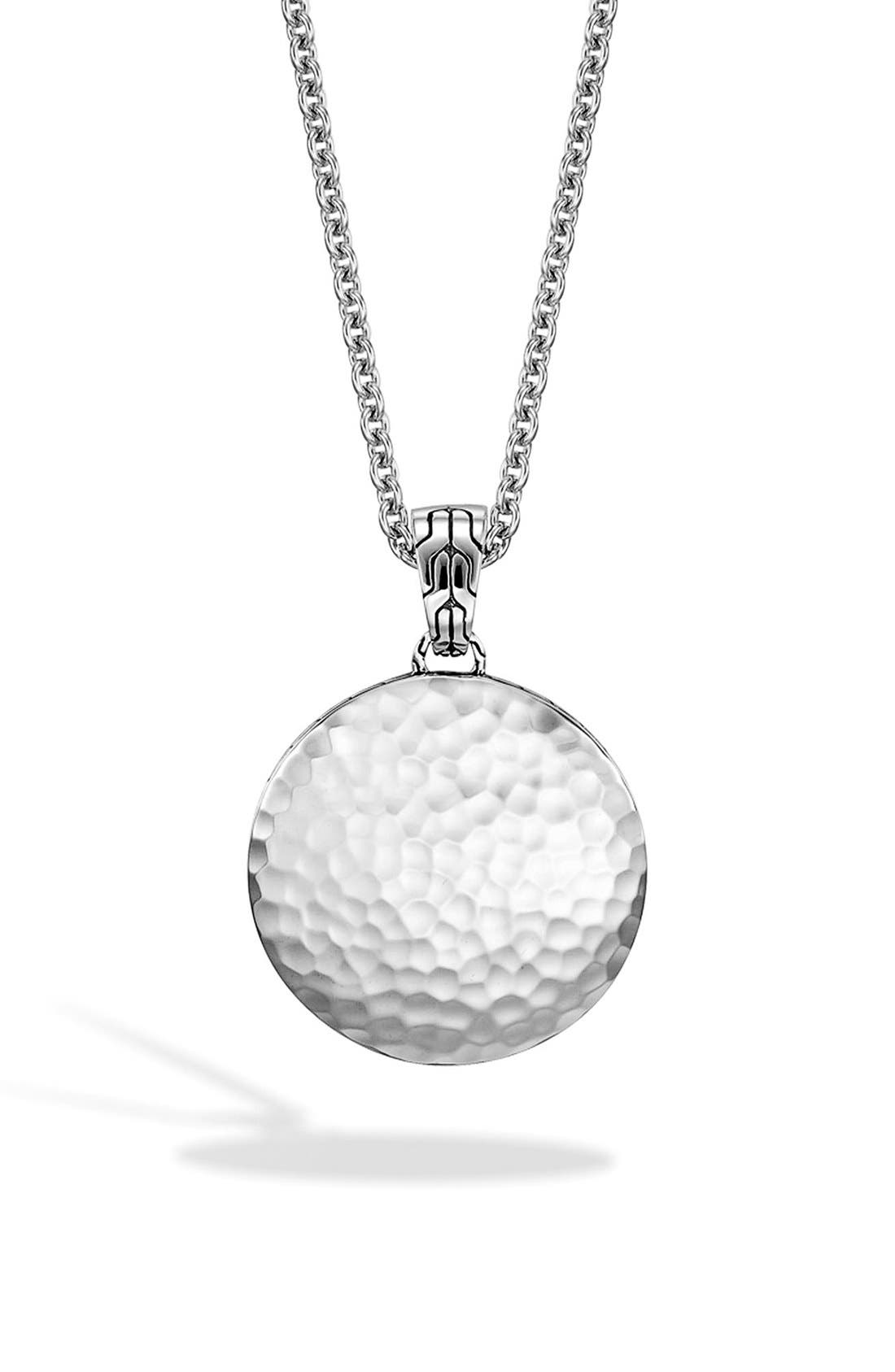 'Dot' Pendant Necklace,                             Main thumbnail 1, color,                             SILVER