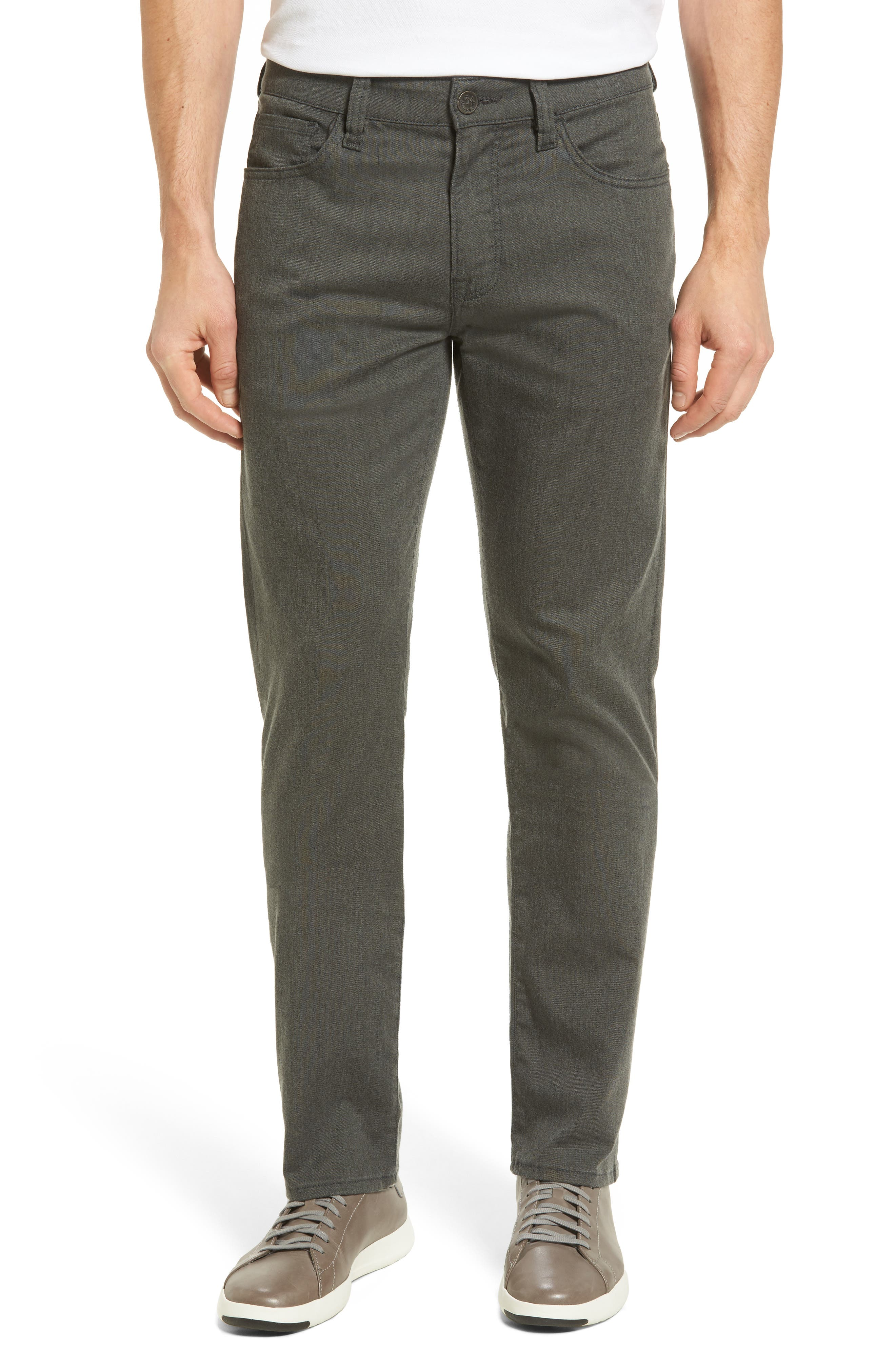 Courage Straight Leg Jeans,                             Main thumbnail 1, color,                             GREY LUXE