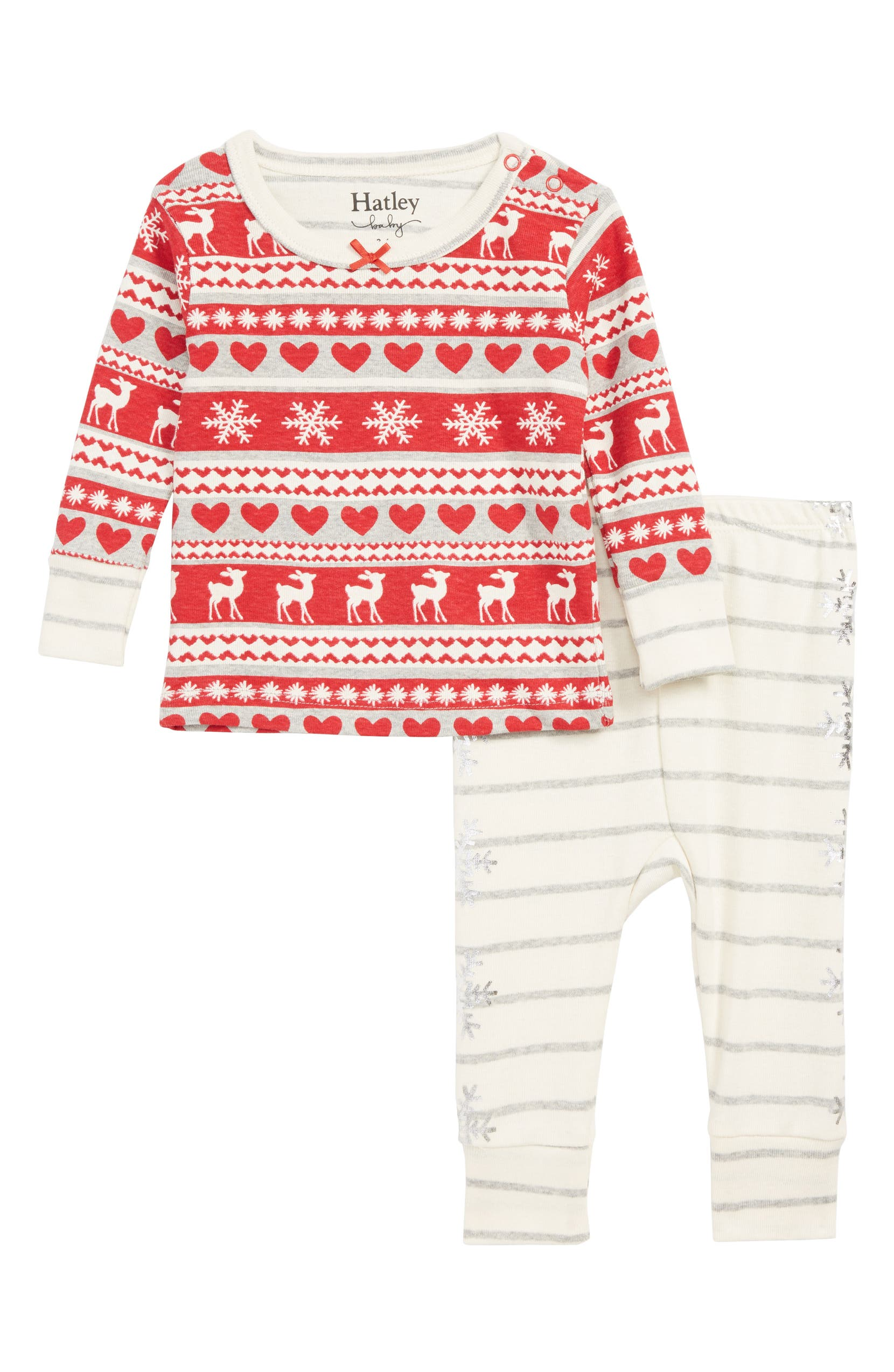3f300f070 Hatley Fair Isle Organic Cotton Fitted Two-Piece Pajamas (Baby Girls ...