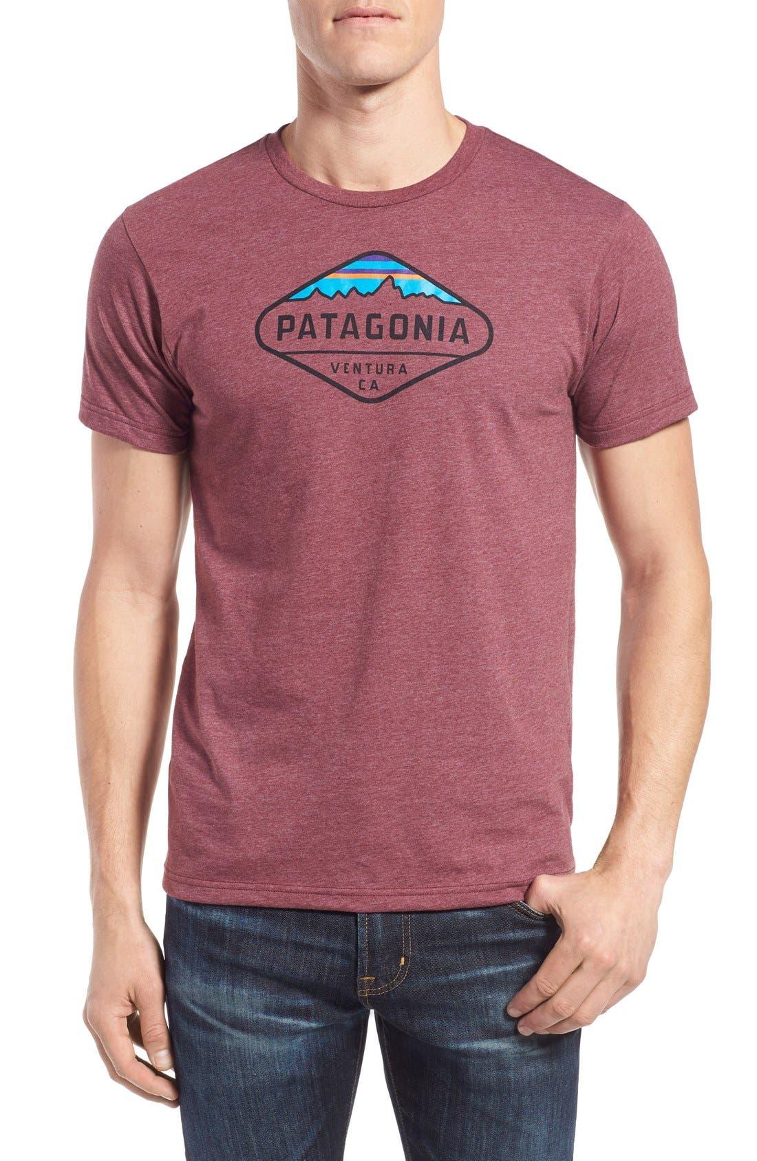 'Fitz Roy Crest' Slim Fit Organic Cotton Blend T-Shirt,                             Main thumbnail 7, color,