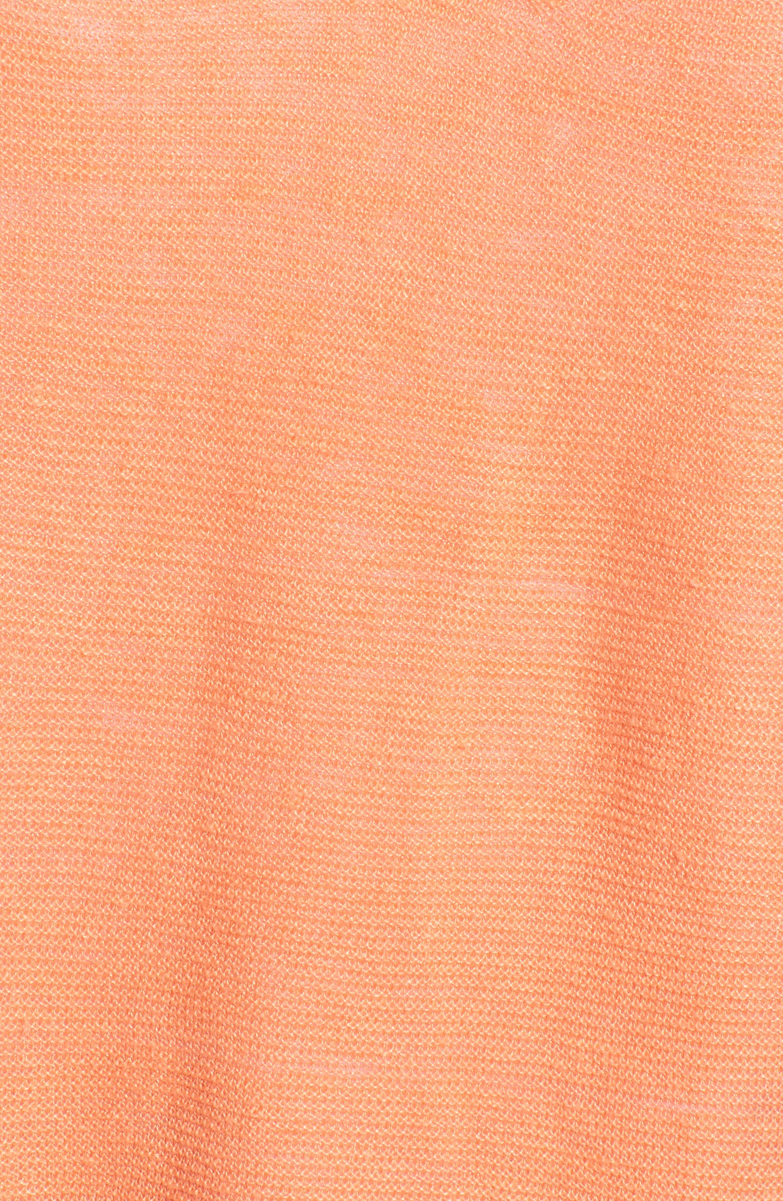 V-Neck Organic Linen Top,                             Alternate thumbnail 31, color,