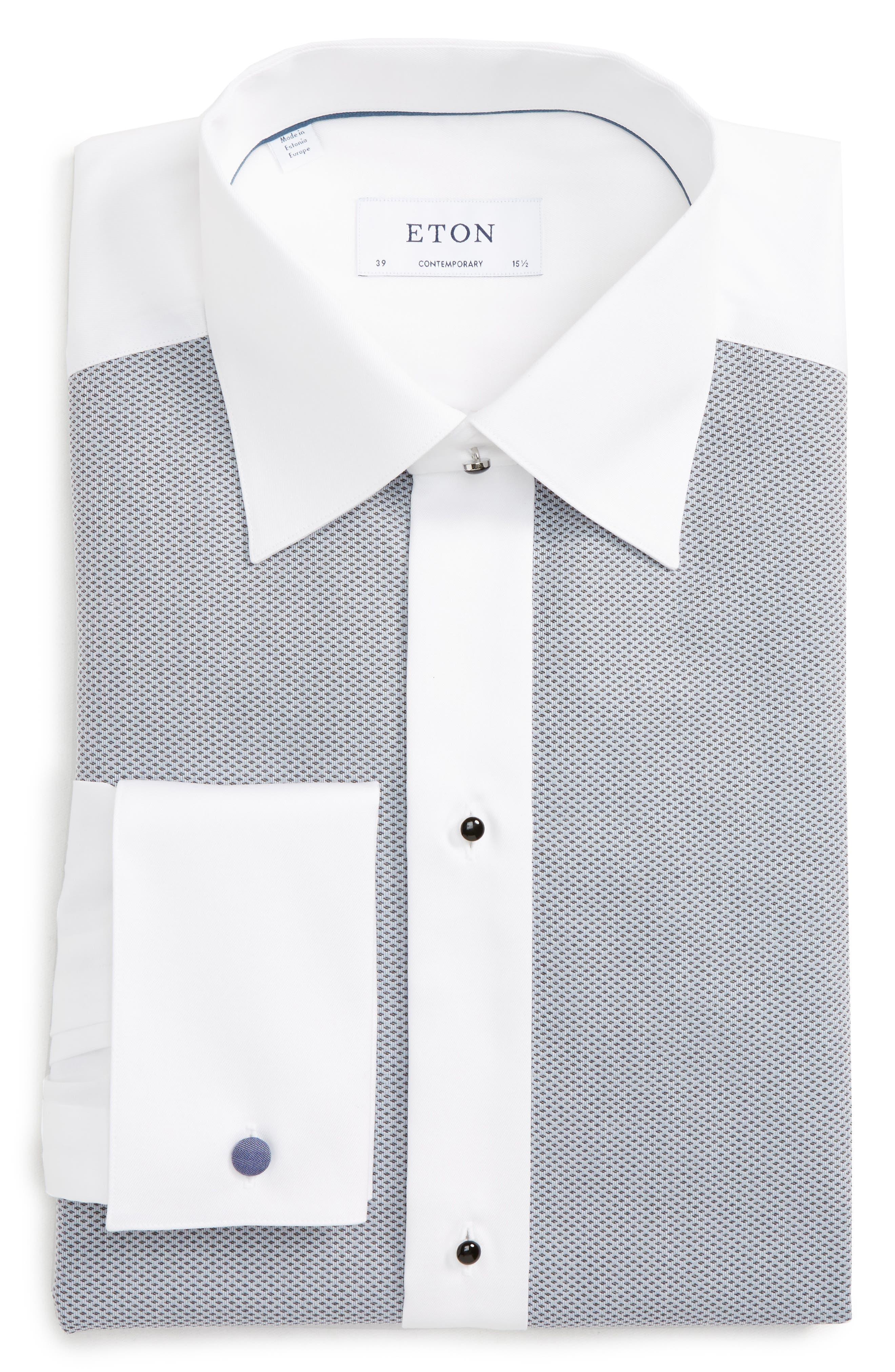 Contemporary Fit Tuxedo Shirt,                         Main,                         color, 020