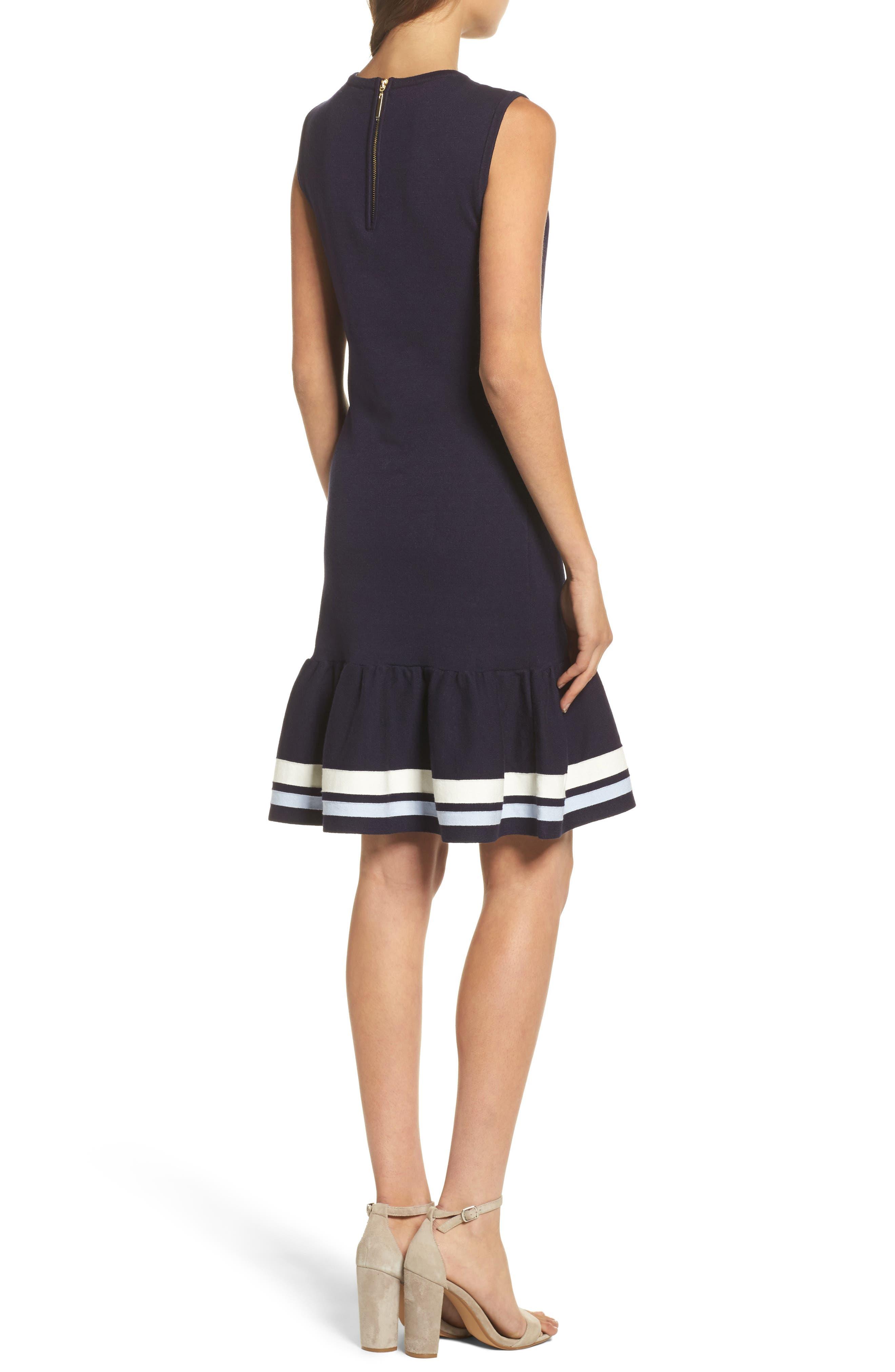 Peplum Hem Sweater Dress,                             Alternate thumbnail 2, color,                             410