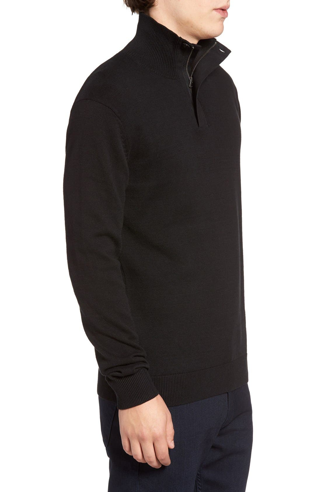 Quarter Zip Sweater,                             Alternate thumbnail 3, color,                             001