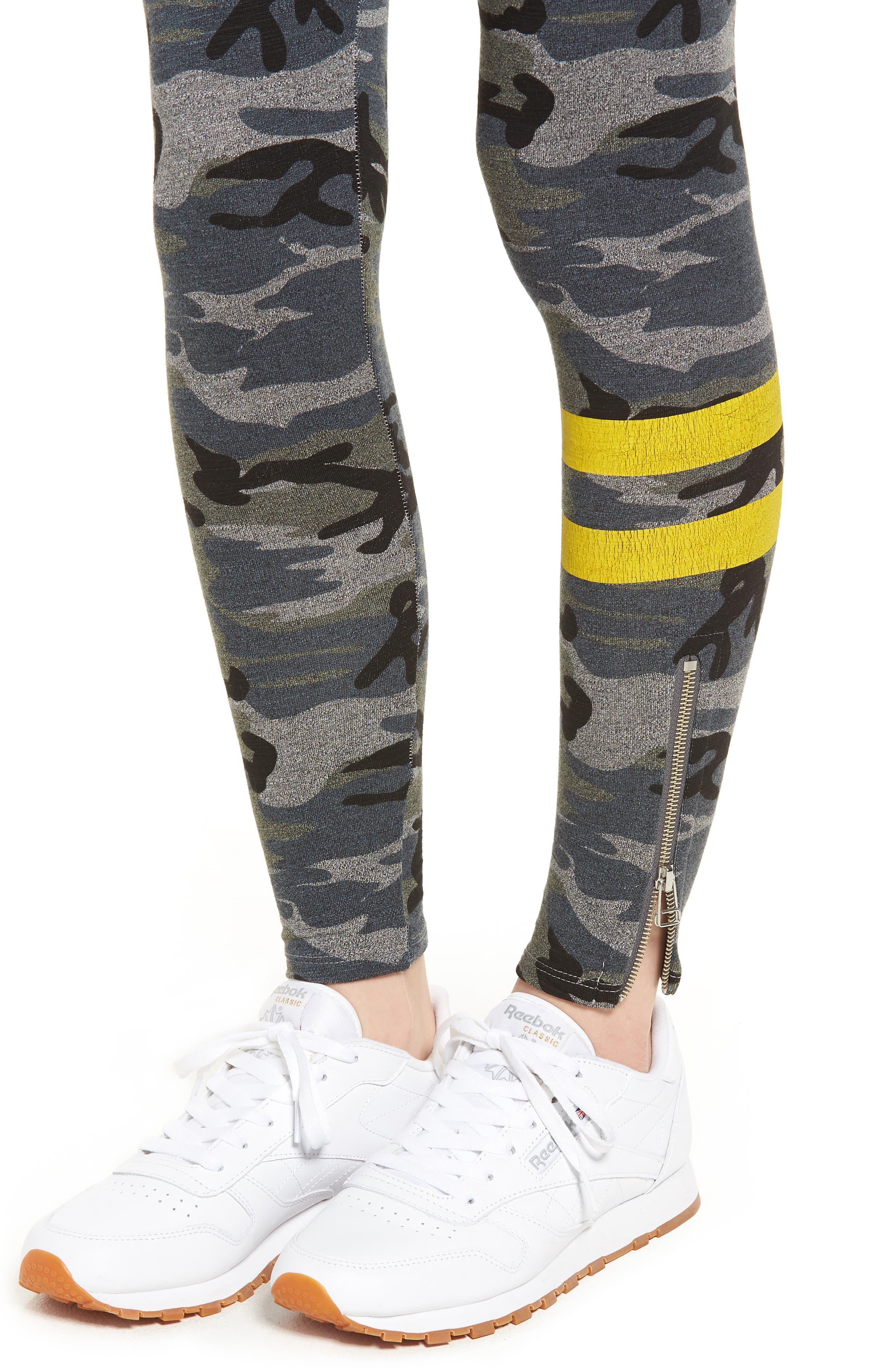 Stripe Camo Yoga Pants,                             Alternate thumbnail 4, color,                             020