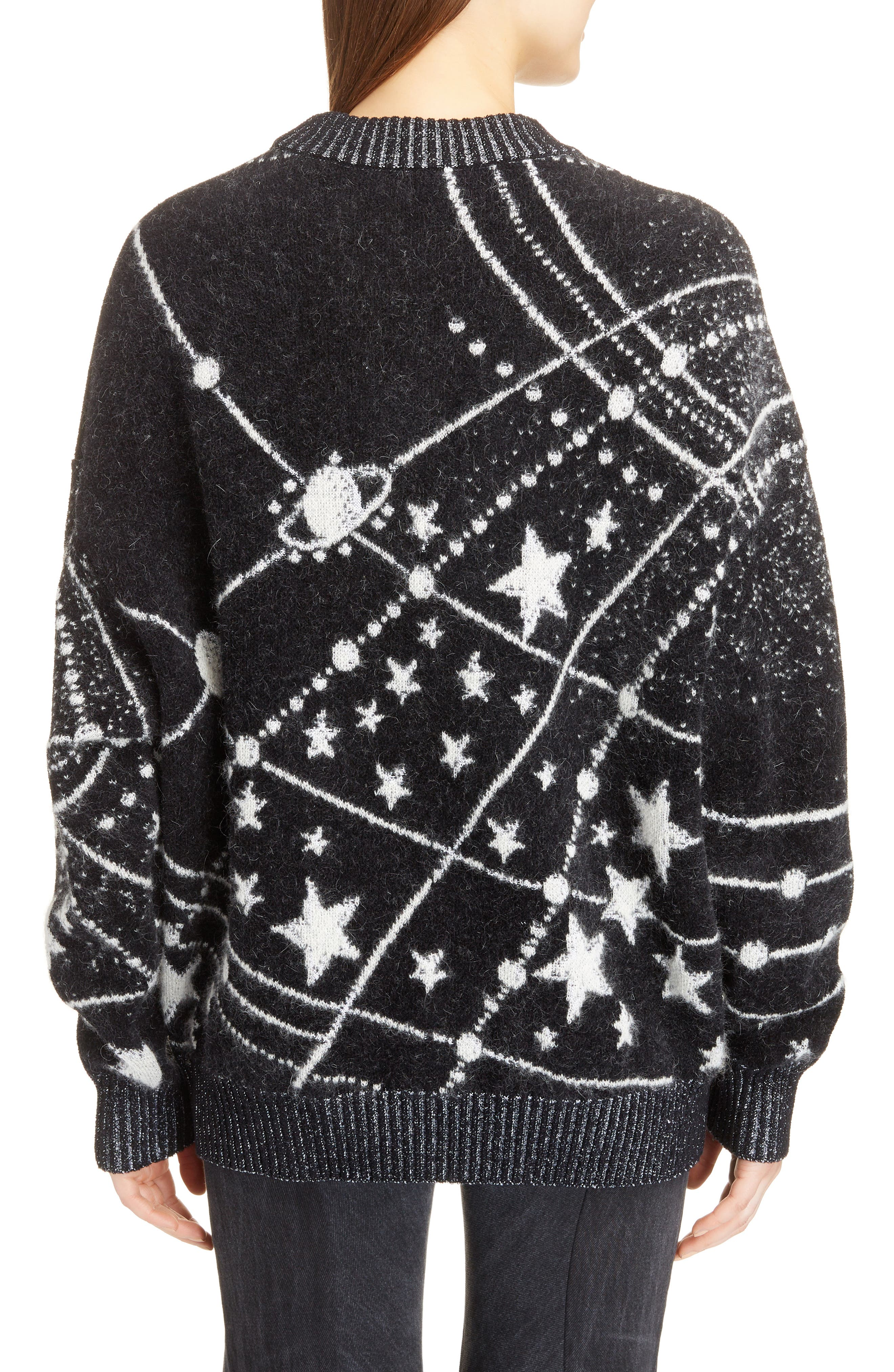 Constellation Oversize Mohair Sweater,                             Alternate thumbnail 2, color,                             011
