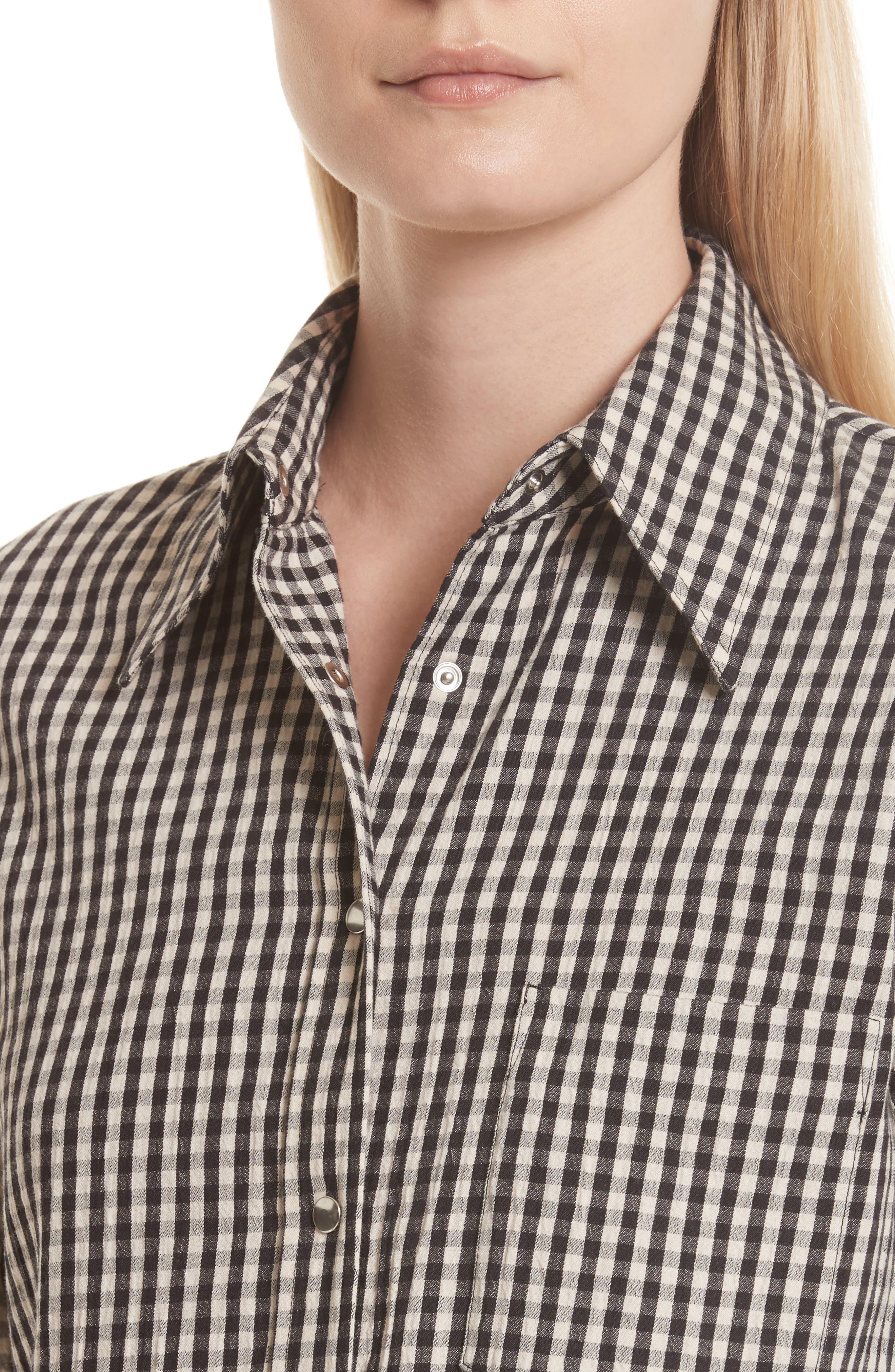 Gingham Check Shirt,                             Alternate thumbnail 4, color,
