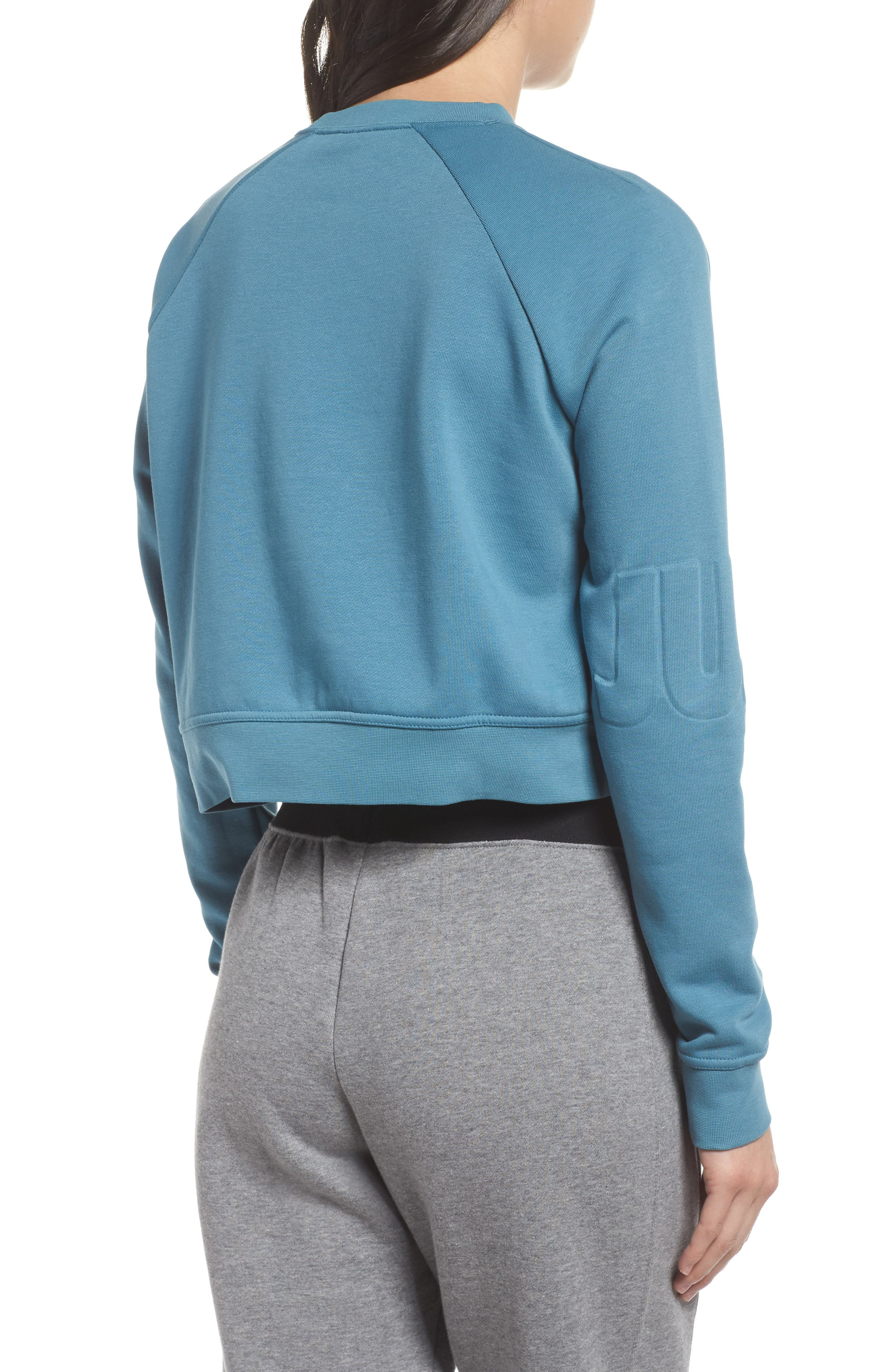 Long Sleeve Crop Training Top,                             Alternate thumbnail 8, color,
