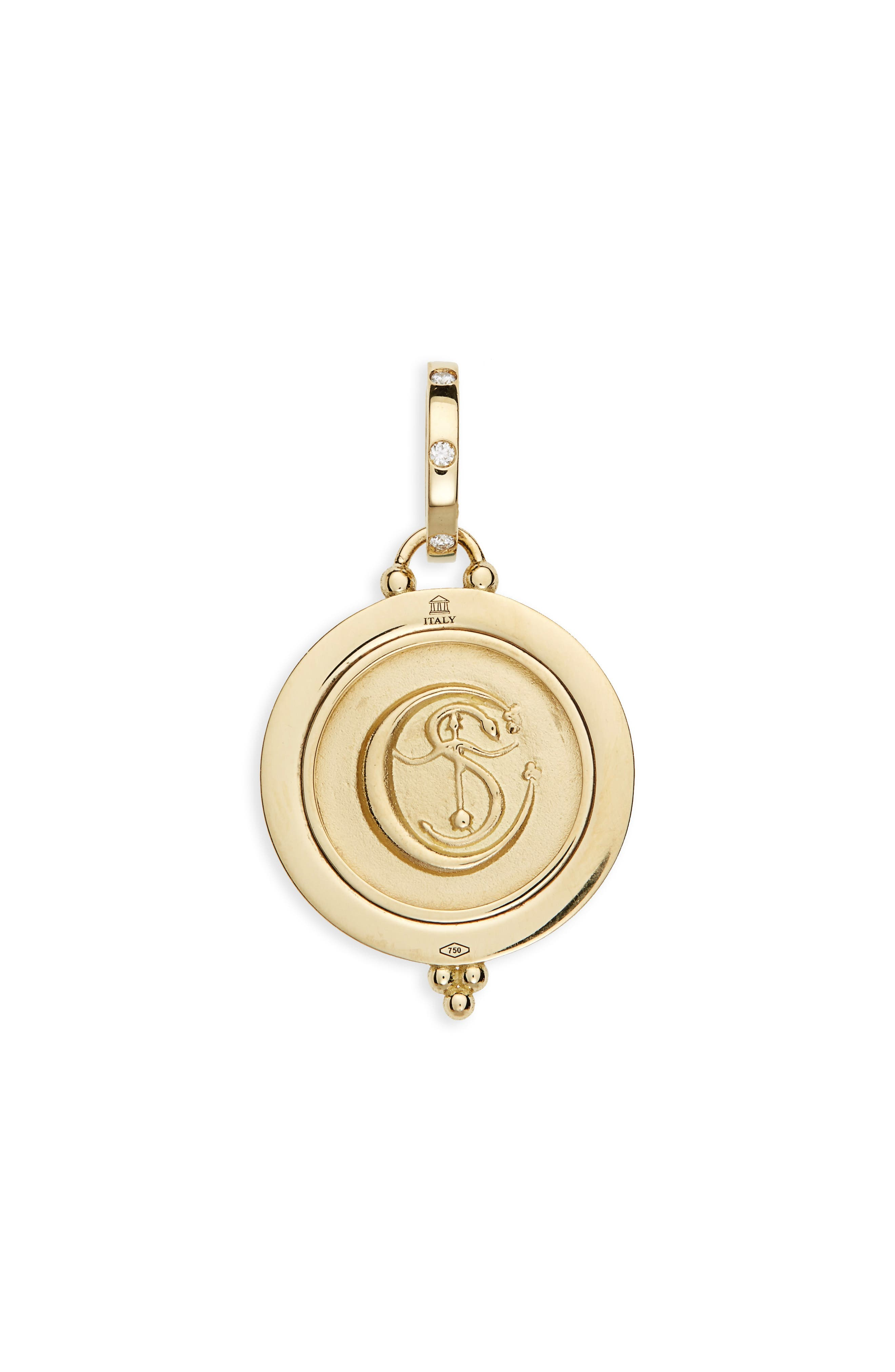 Temple St. Clair Charms Pendant,                             Alternate thumbnail 2, color,                             YELLOW GOLD