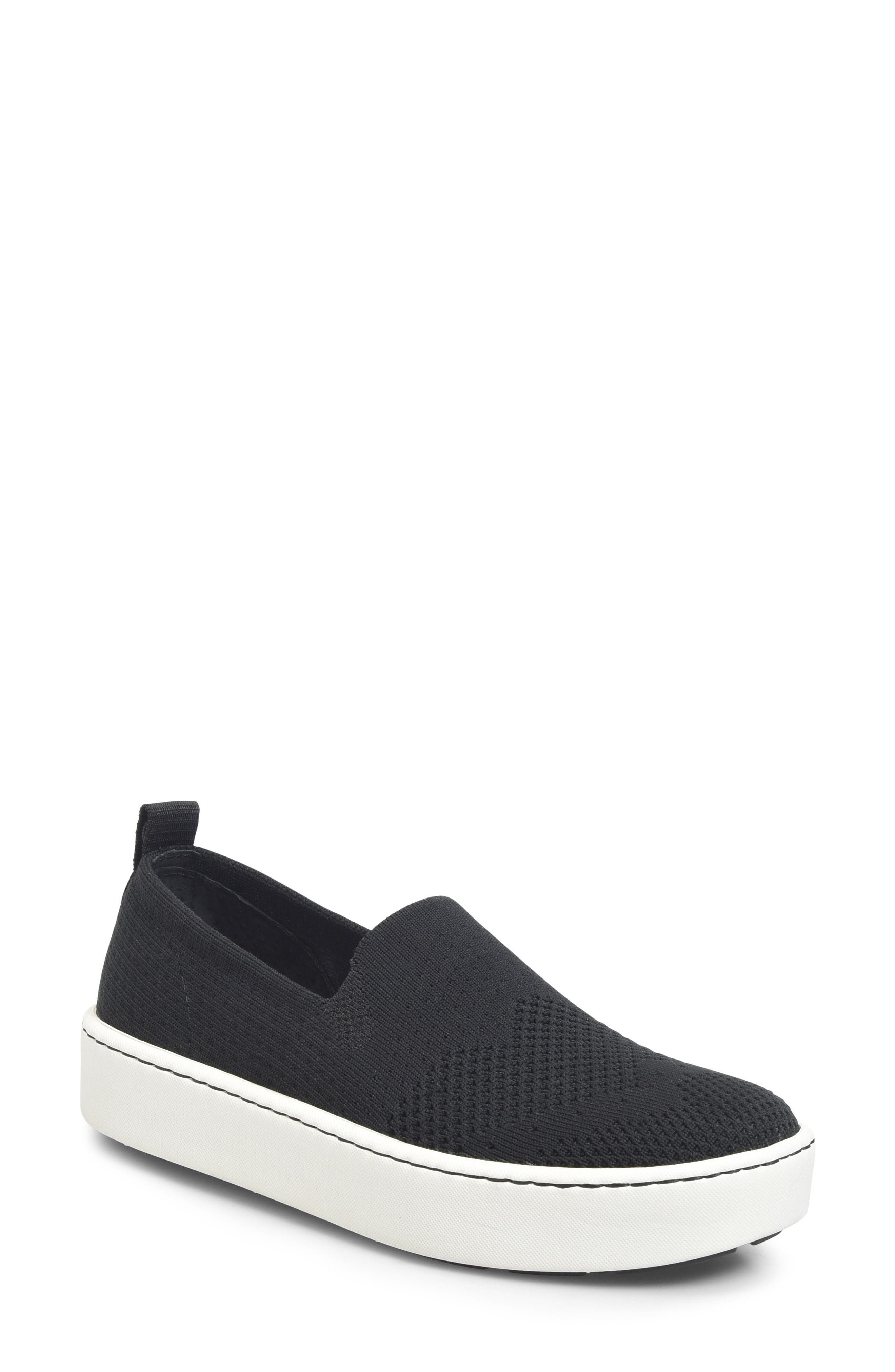 Sun Slip-On Sneaker,                             Main thumbnail 1, color,                             BLACK FABRIC