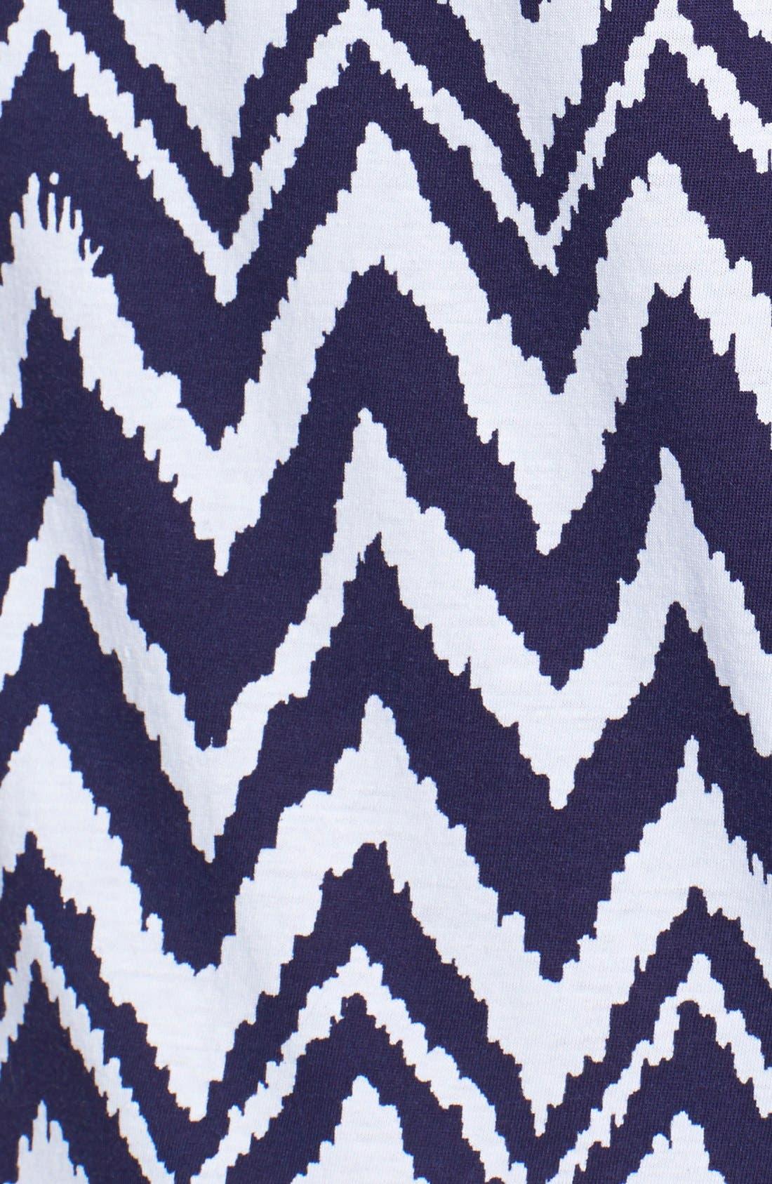 'Eliza' Chevron Pima Cotton Shift Dress,                             Alternate thumbnail 3, color,                             410