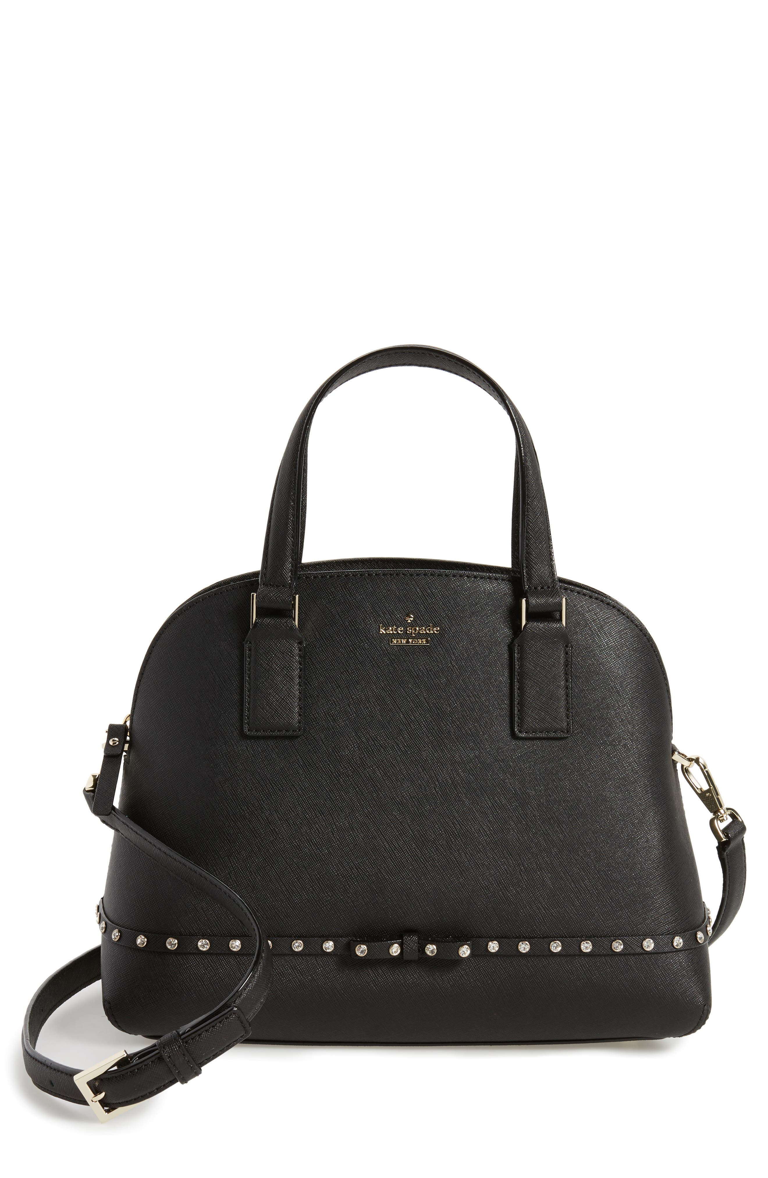 cameron street - jeweled lottie leather satchel,                             Main thumbnail 1, color,                             001