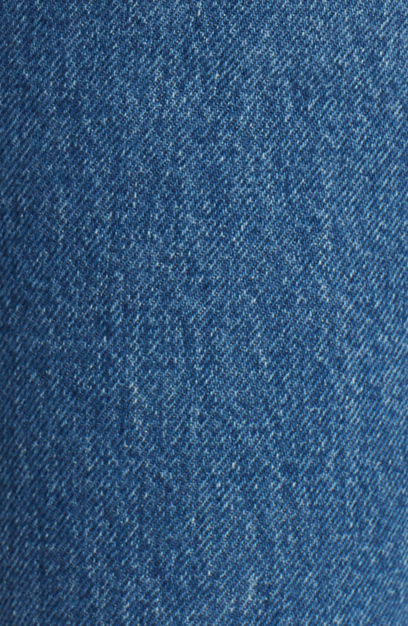 Embellished Patchwork Skinny Jeans,                             Alternate thumbnail 5, color,                             410