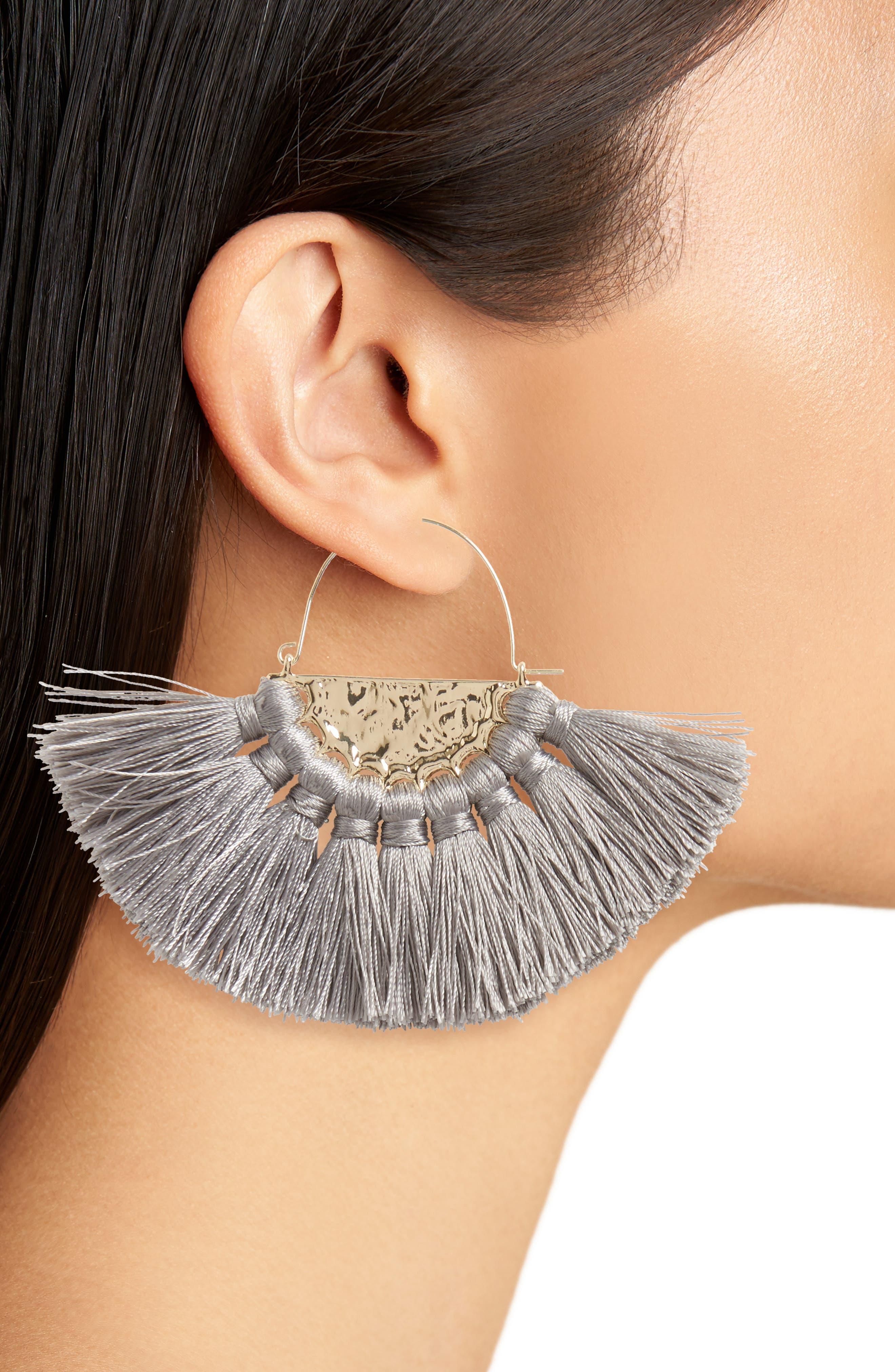 Oversize Fan Earrings,                             Alternate thumbnail 2, color,                             020